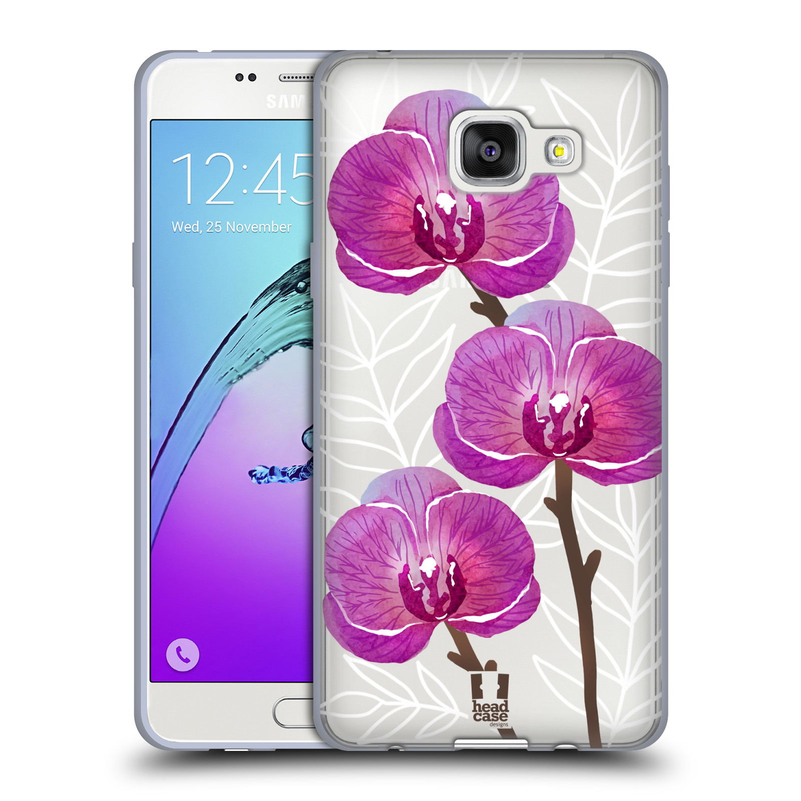 Silikonové pouzdro na mobil Samsung Galaxy A5 (2016) - Head Case - Hezoučké kvítky - průhledné