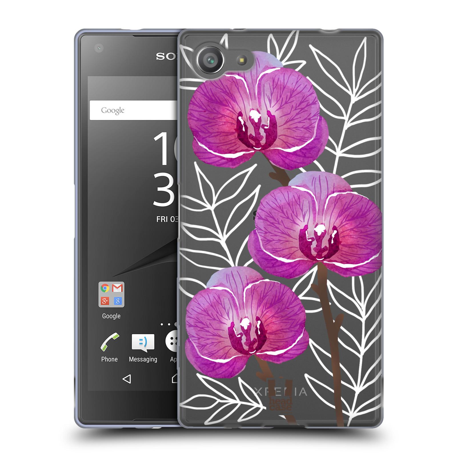 Silikonové pouzdro na mobil Sony Xperia Z5 Compact - Head Case - Hezoučké kvítky - průhledné