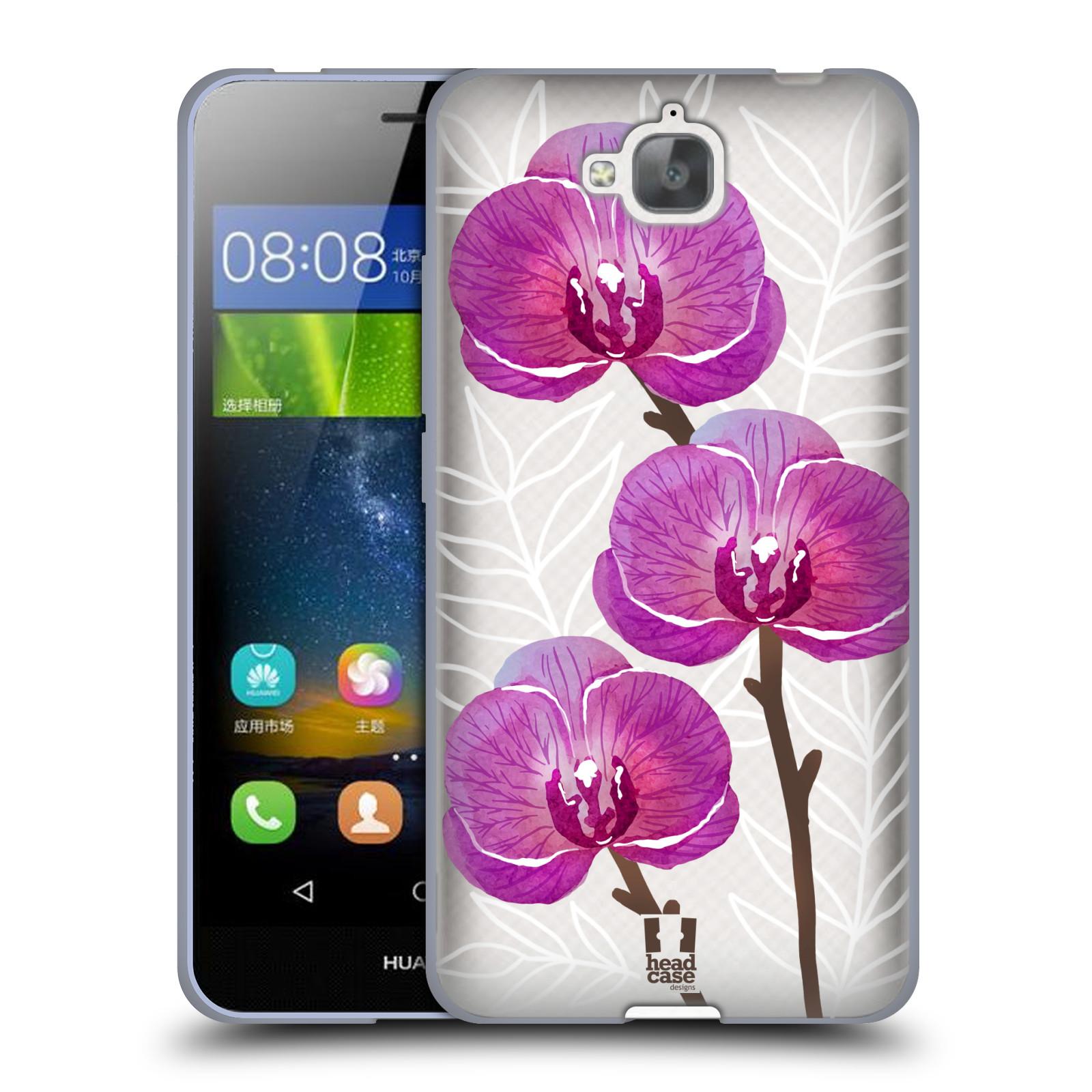 Silikonové pouzdro na mobil Huawei Y6 Pro Dual Sim - Head Case - Hezoučké kvítky - průhledné