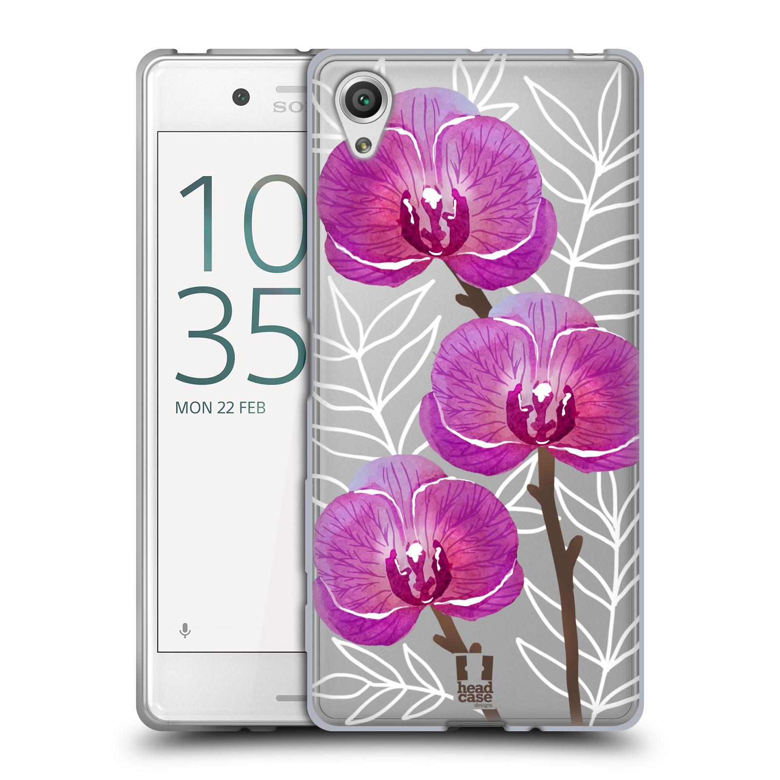 Silikonové pouzdro na mobil Sony Xperia X - Head Case - Hezoučké kvítky - průhledné