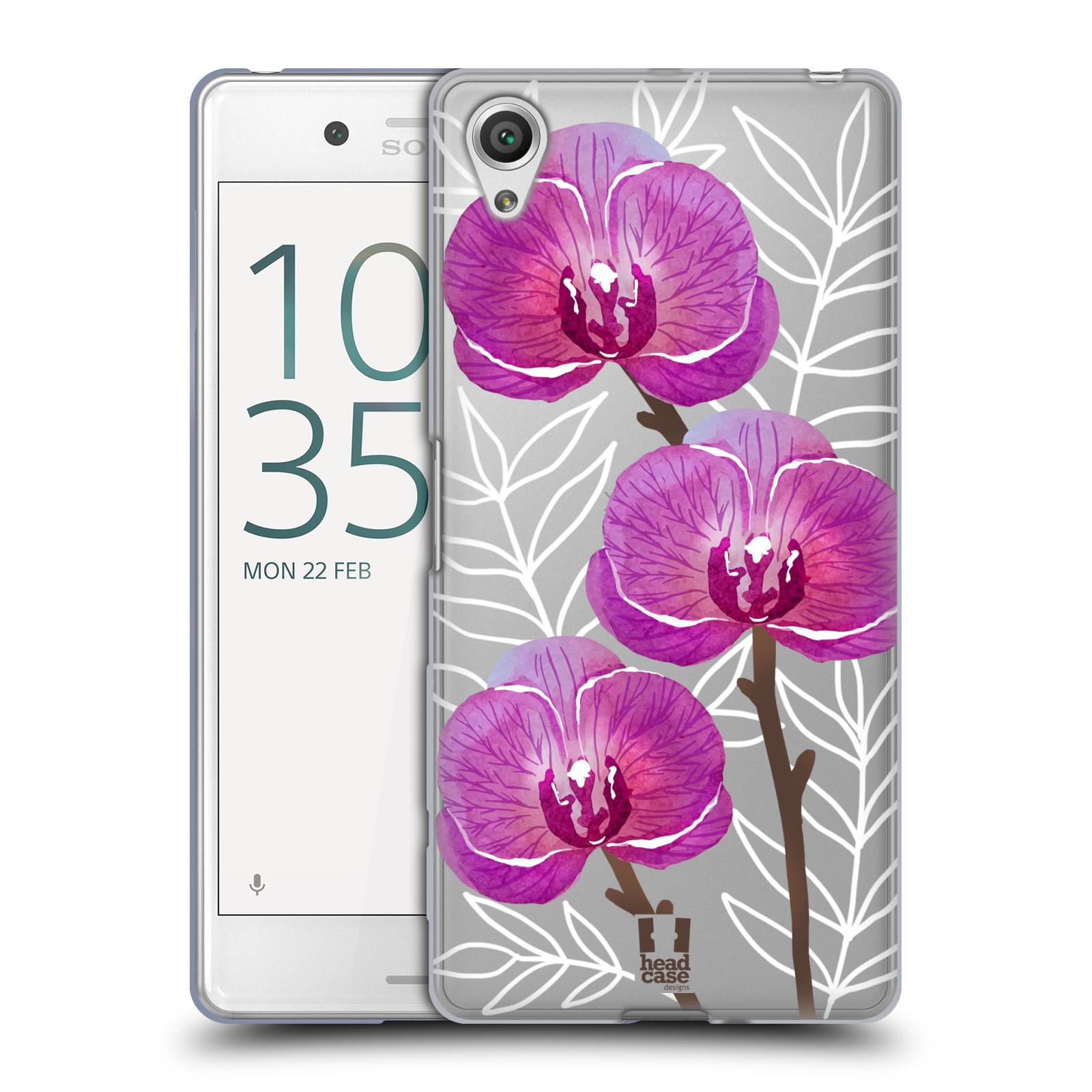 Silikonové pouzdro na mobil Sony Xperia X Performance - Head Case - Hezoučké kvítky - průhledné