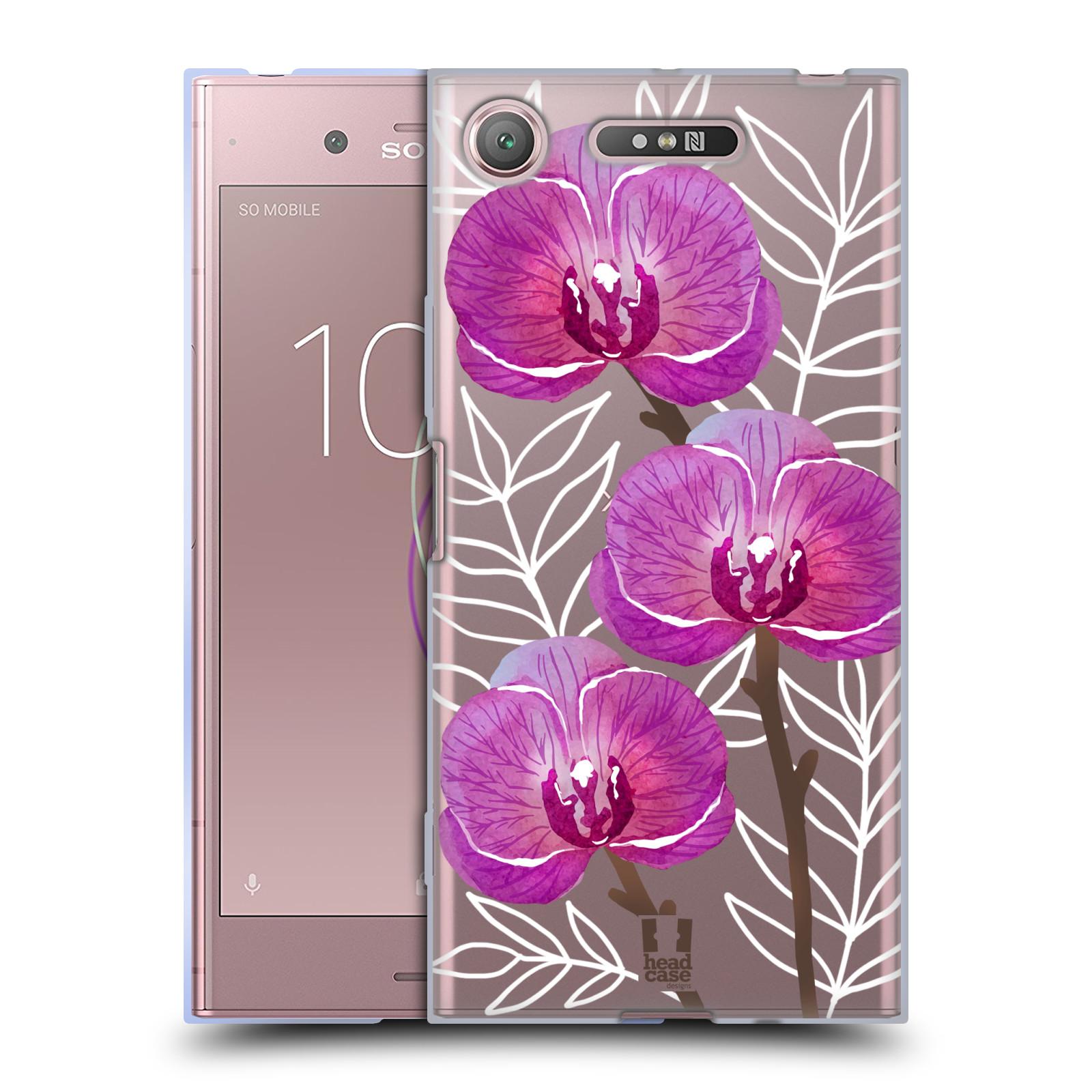 Silikonové pouzdro na mobil Sony Xperia XZ1 - Head Case - Hezoučké kvítky - průhledné