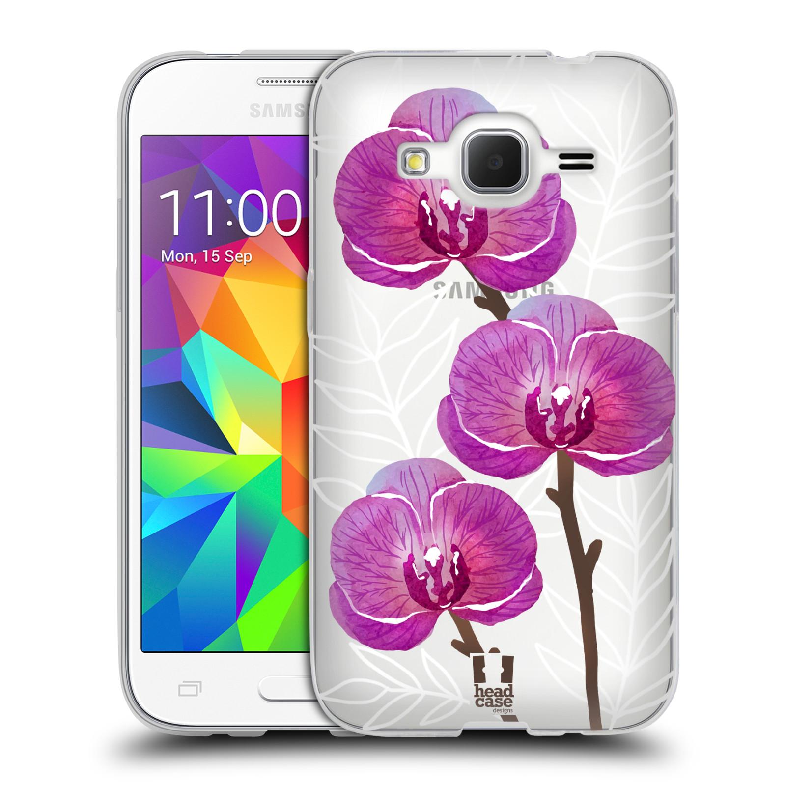 Silikonové pouzdro na mobil Samsung Galaxy Core Prime LTE - Head Case - Hezoučké kvítky - průhledné