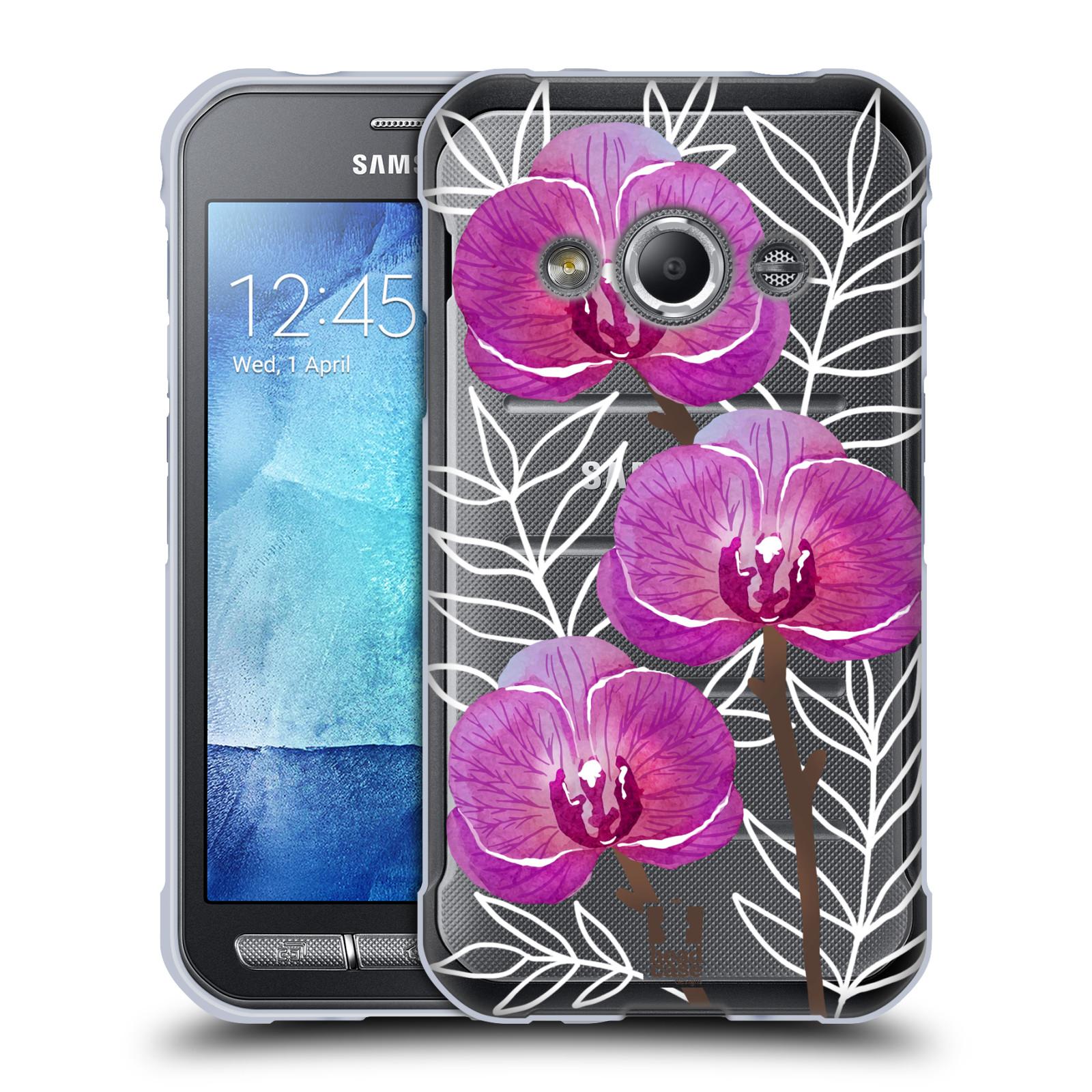 Silikonové pouzdro na mobil Samsung Galaxy Xcover 3 - Head Case - Hezoučké kvítky - průhledné