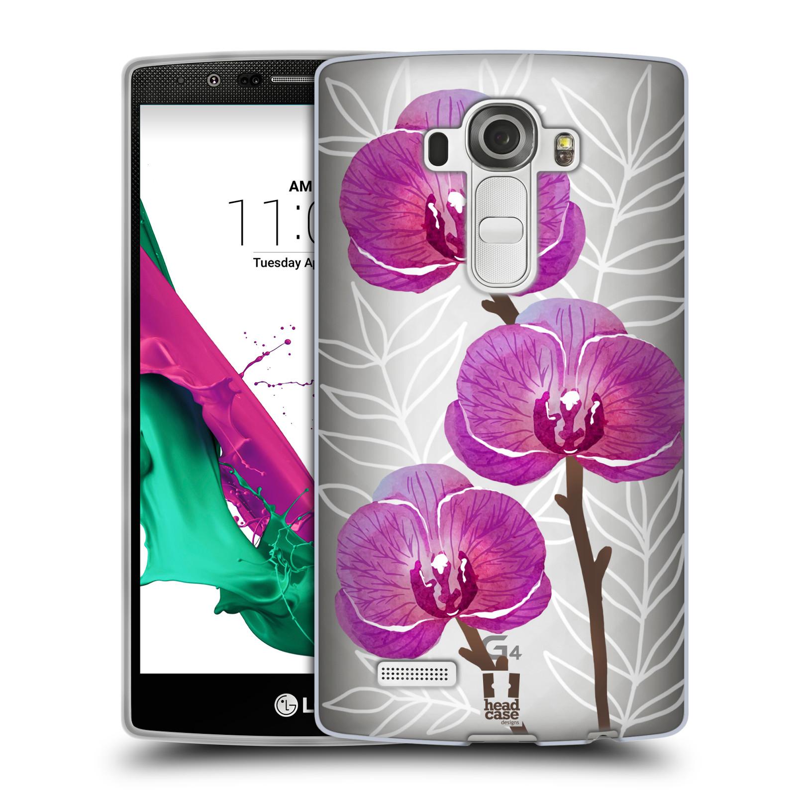 Silikonové pouzdro na mobil LG G4 - Head Case - Hezoučké kvítky - průhledné