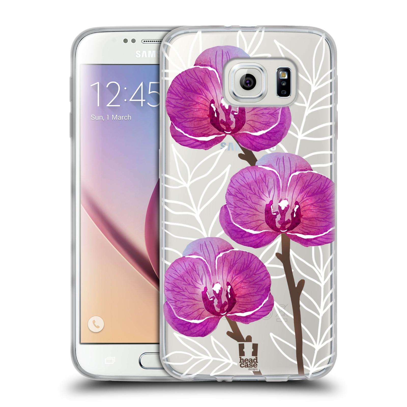 Silikonové pouzdro na mobil Samsung Galaxy S6 - Head Case - Hezoučké kvítky - průhledné