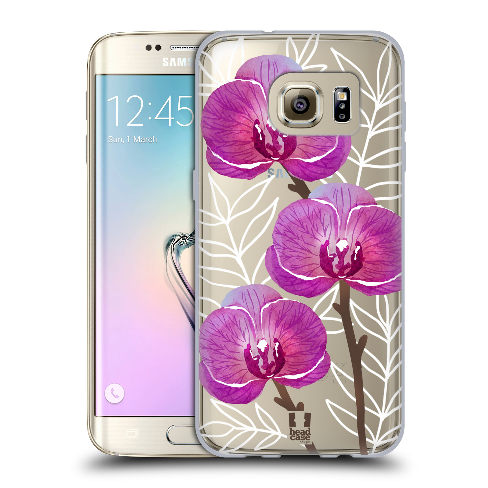 Silikonové pouzdro na mobil Samsung Galaxy S7 Edge - Head Case - Hezoučké kvítky - průhledné