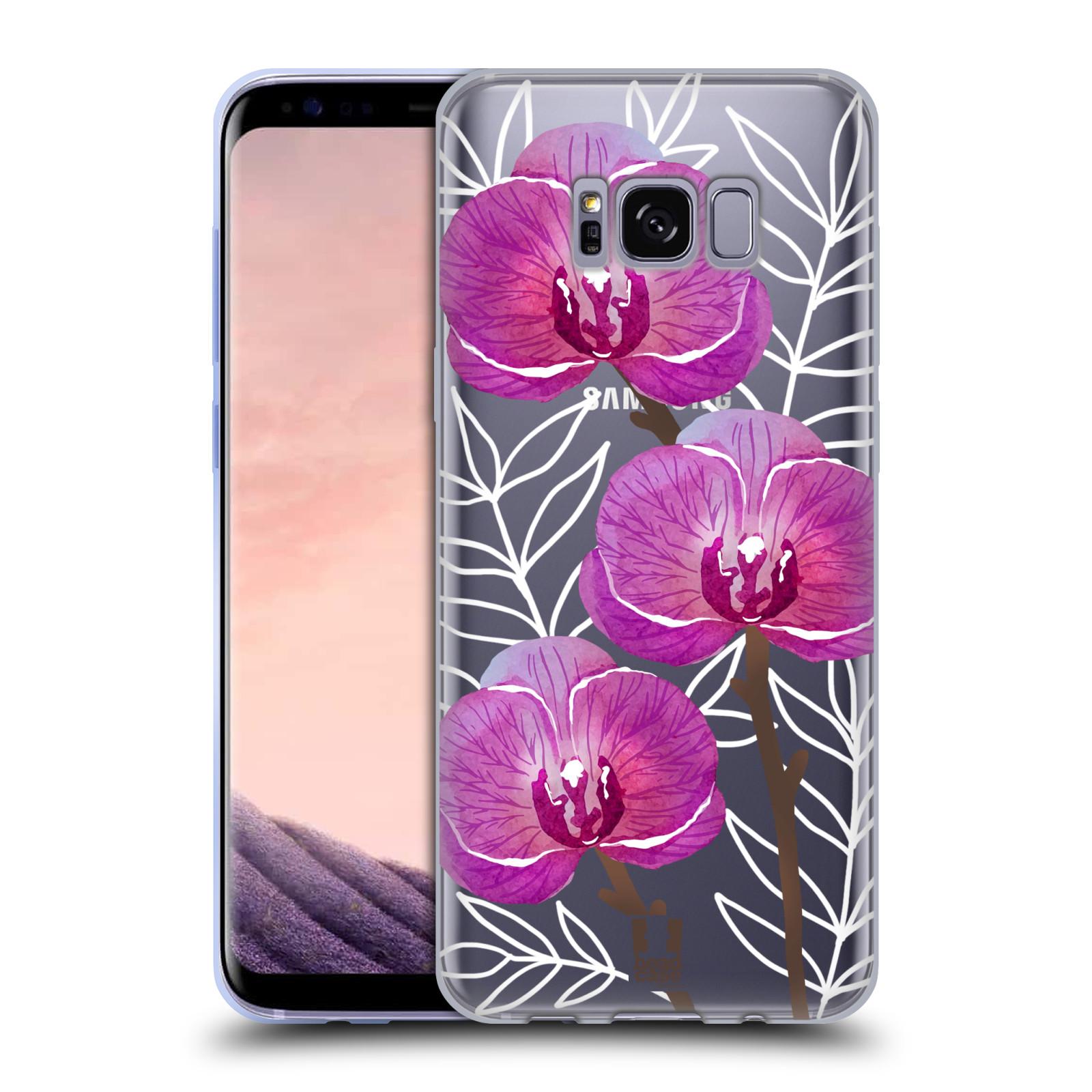 Silikonové pouzdro na mobil Samsung Galaxy S8 - Head Case - Hezoučké kvítky - průhledné