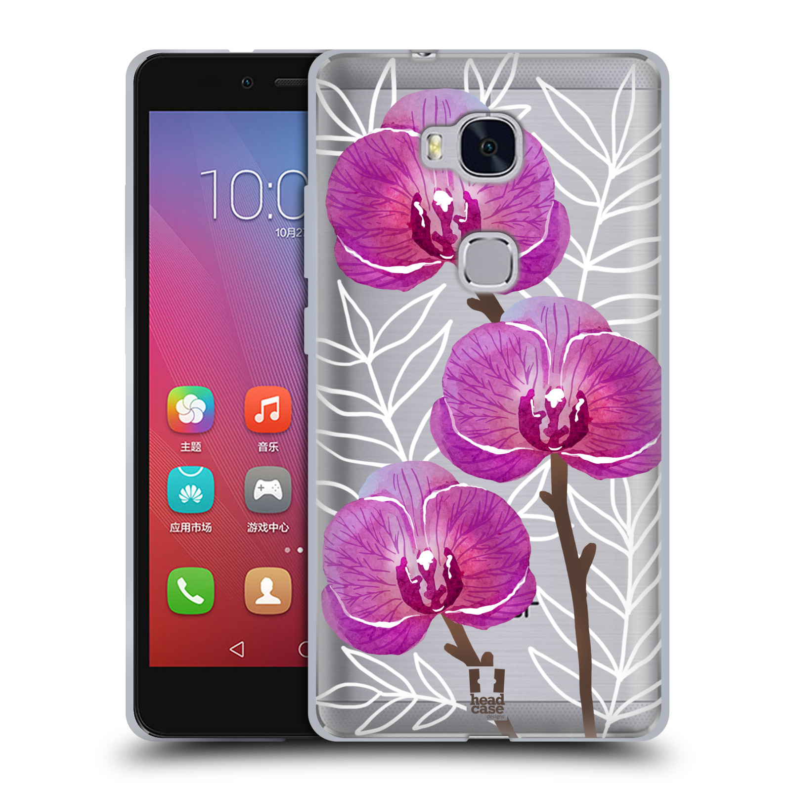 Silikonové pouzdro na mobil Honor 5X - Head Case - Hezoučké kvítky - průhledné