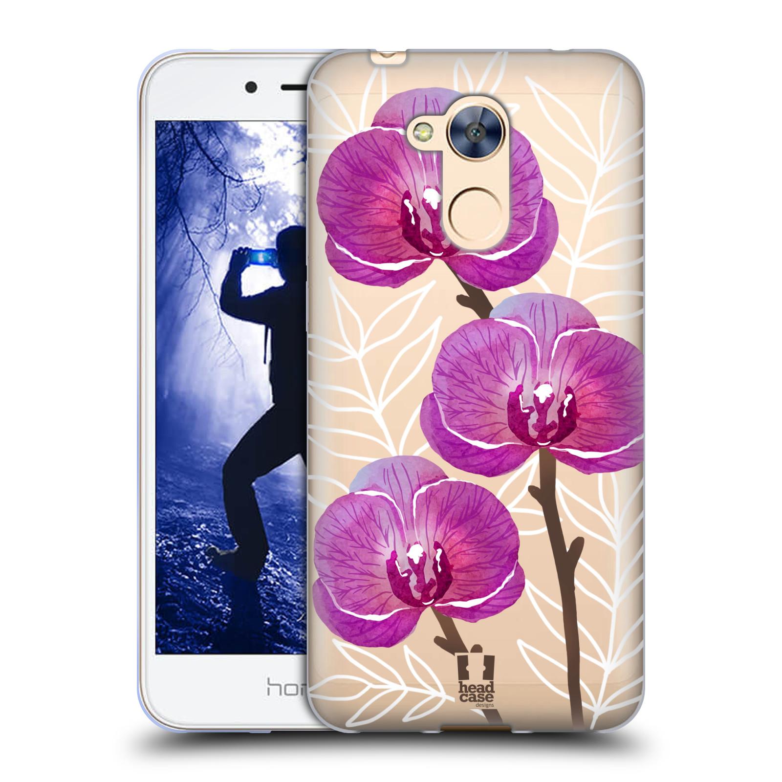 Silikonové pouzdro na mobil Honor 6A - Head Case - Hezoučké kvítky - průhledné