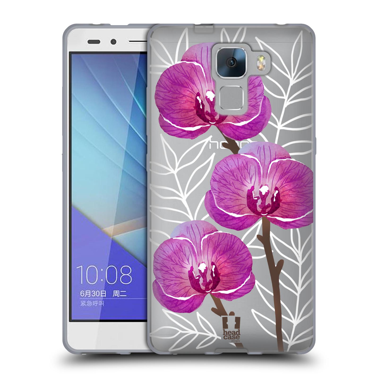 Silikonové pouzdro na mobil Honor 7 - Head Case - Hezoučké kvítky - průhledné
