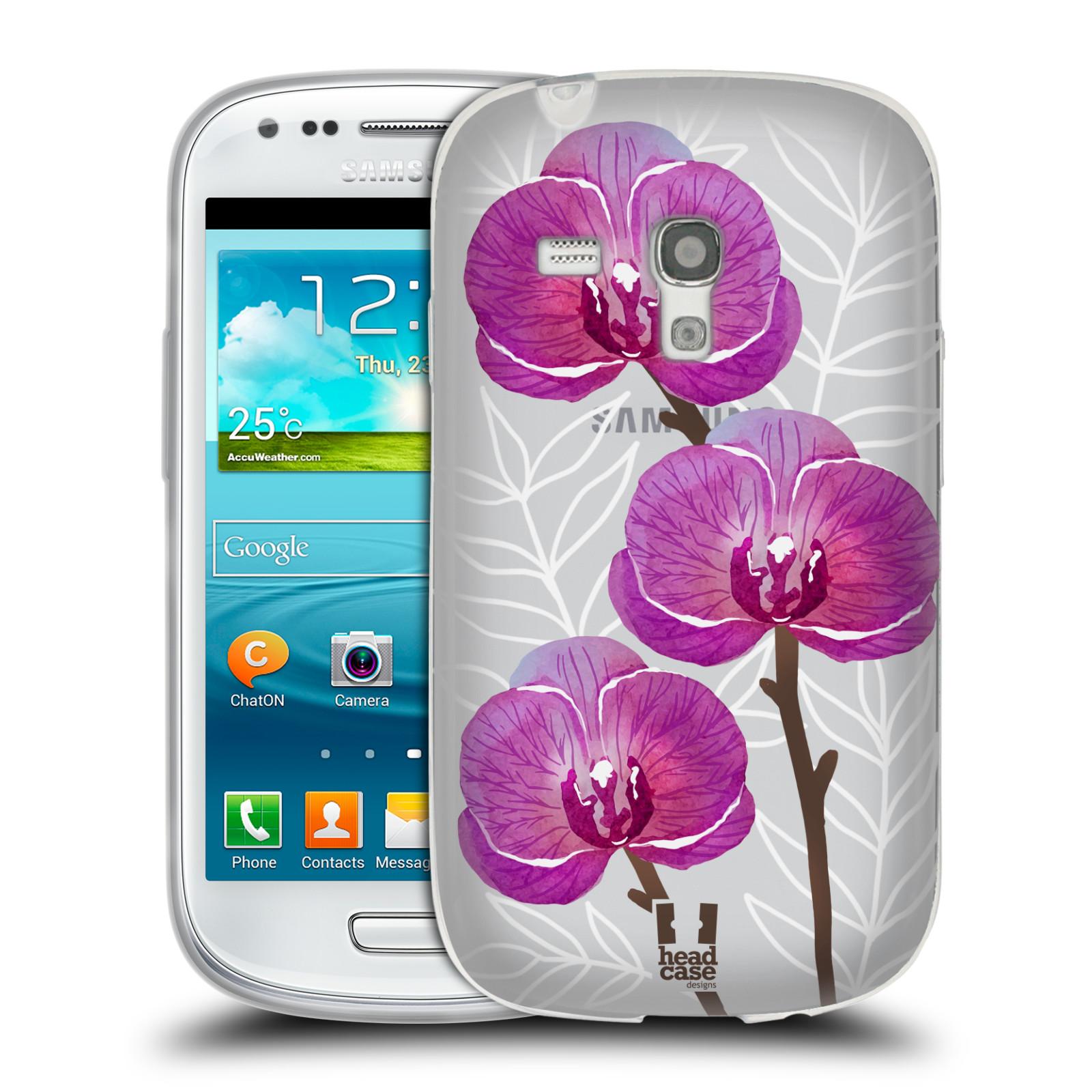 Silikonové pouzdro na mobil Samsung Galaxy S III Mini - Head Case - Hezoučké kvítky - průhledné