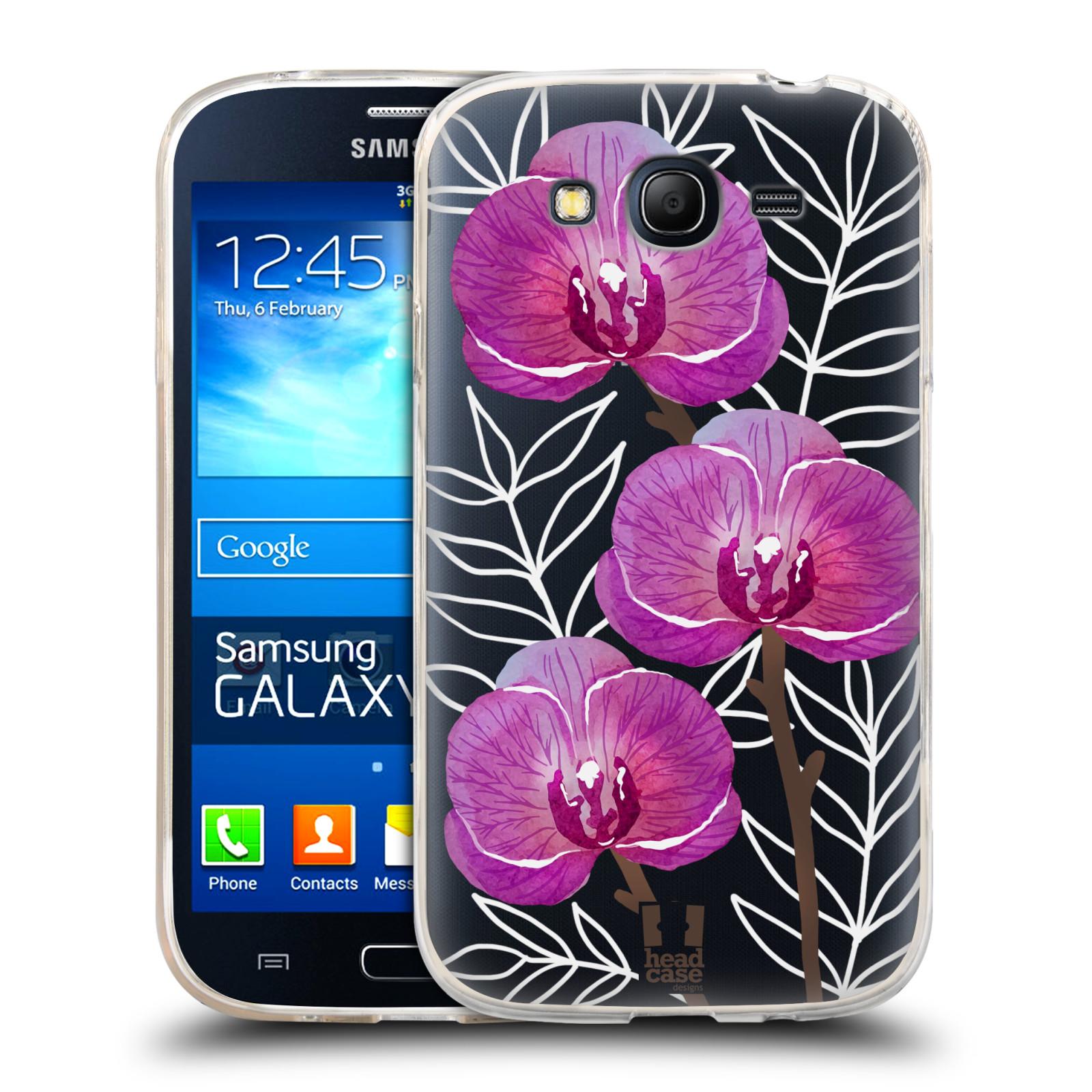 Silikonové pouzdro na mobil Samsung Galaxy Grand Neo - Head Case - Hezoučké kvítky - průhledné