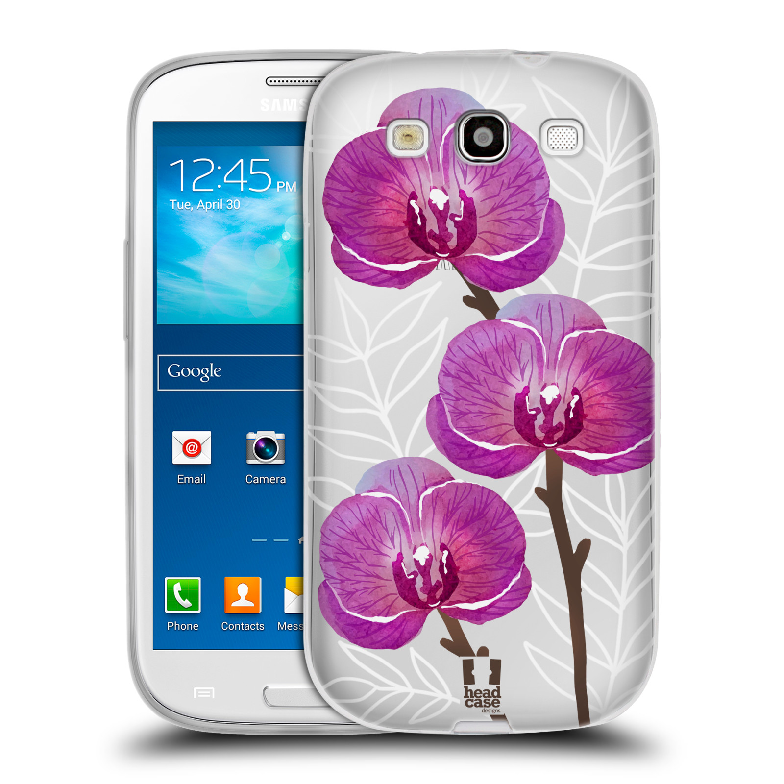 Silikonové pouzdro na mobil Samsung Galaxy S3 Neo - Head Case - Hezoučké kvítky - průhledné