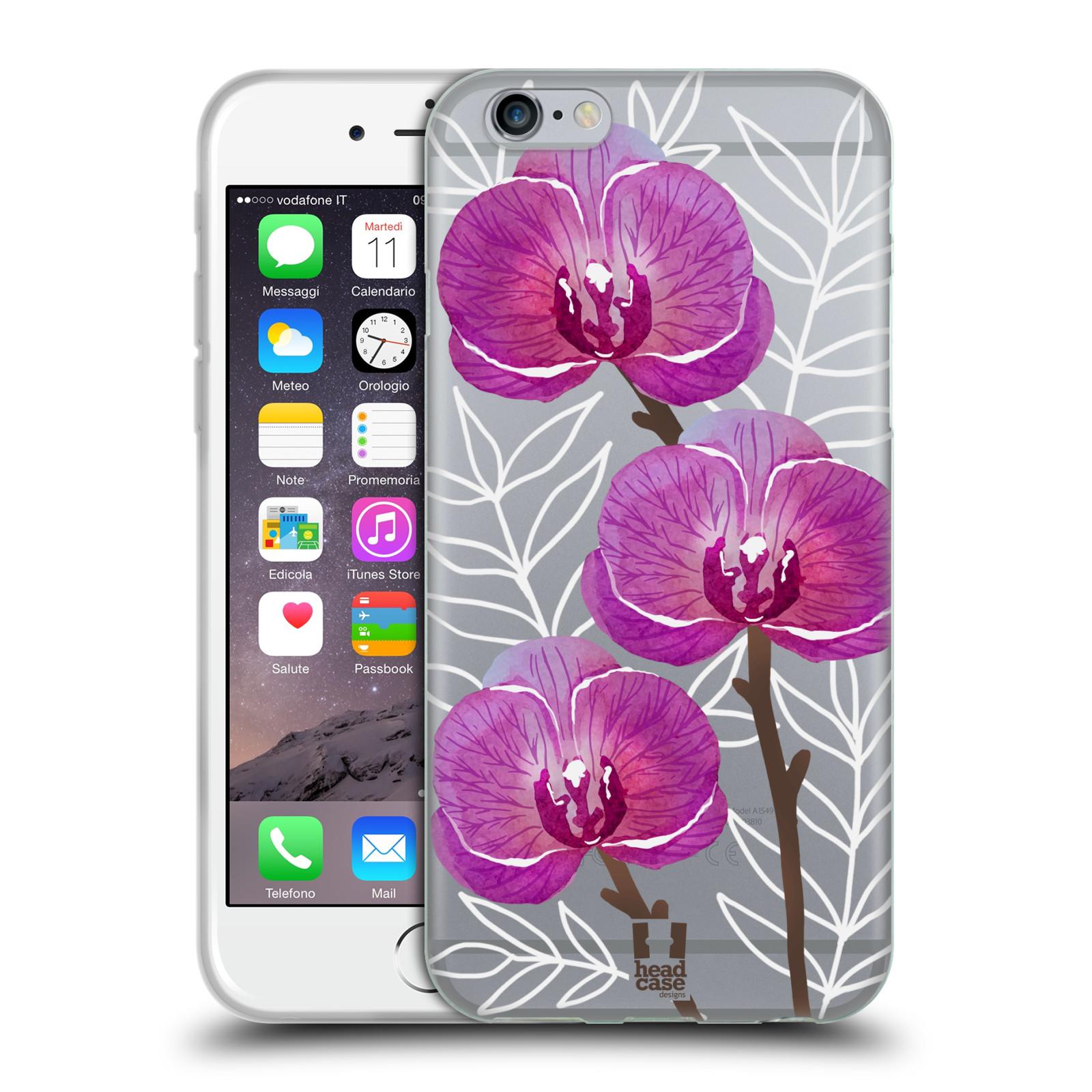 Silikonové pouzdro na mobil Apple iPhone 6 - Head Case - Hezoučké kvítky - průhledné
