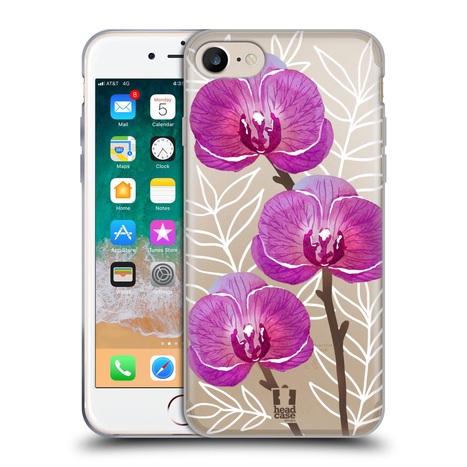 Silikonové pouzdro na mobil Apple iPhone 7 - Head Case - Hezoučké kvítky - průhledné