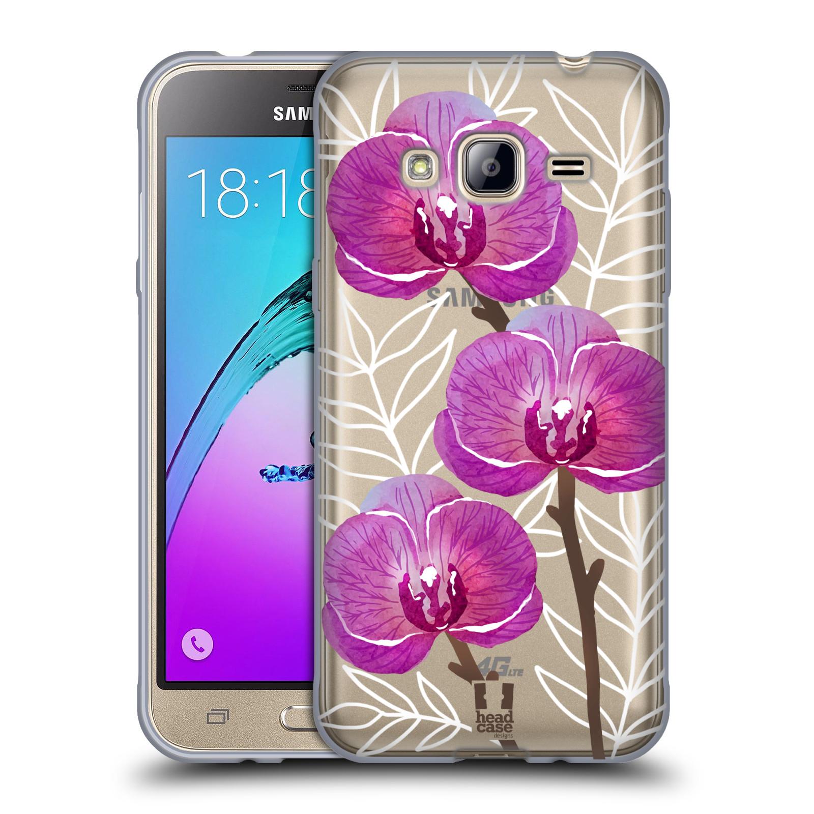 Silikonové pouzdro na mobil Samsung Galaxy J3 (2016) - Head Case - Hezoučké kvítky - průhledné