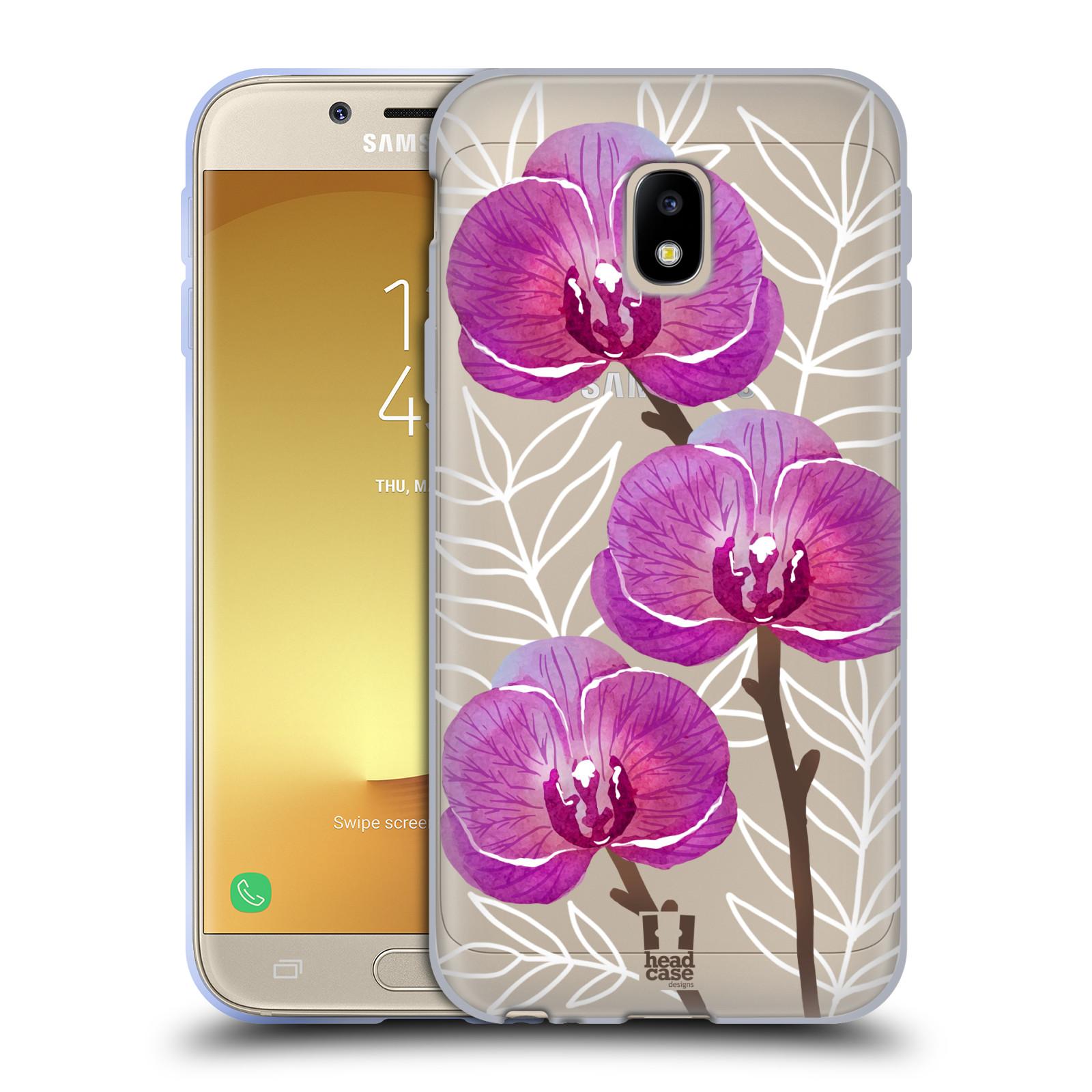 Silikonové pouzdro na mobil Samsung Galaxy J3 (2017) - Head Case - Hezoučké kvítky - průhledné