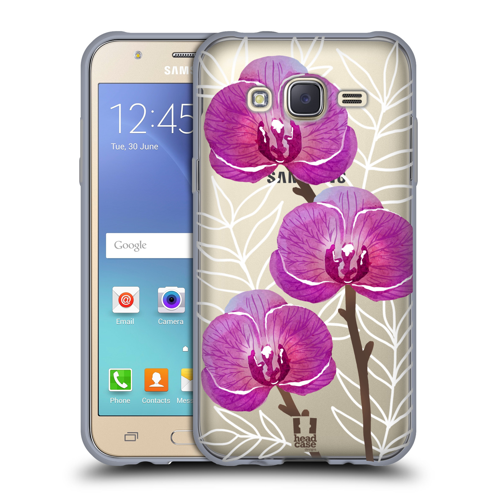 Silikonové pouzdro na mobil Samsung Galaxy J5 - Head Case - Hezoučké kvítky - průhledné
