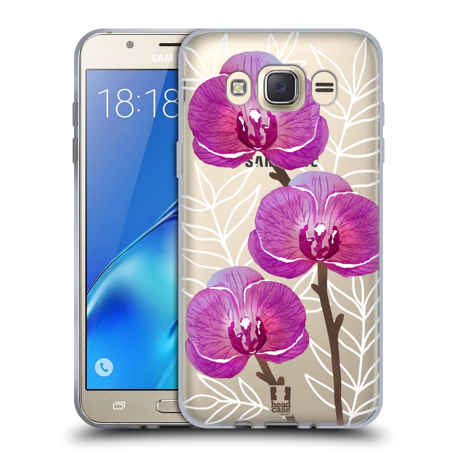 Silikonové pouzdro na mobil Samsung Galaxy J7 (2016) - Head Case - Hezoučké kvítky - průhledné