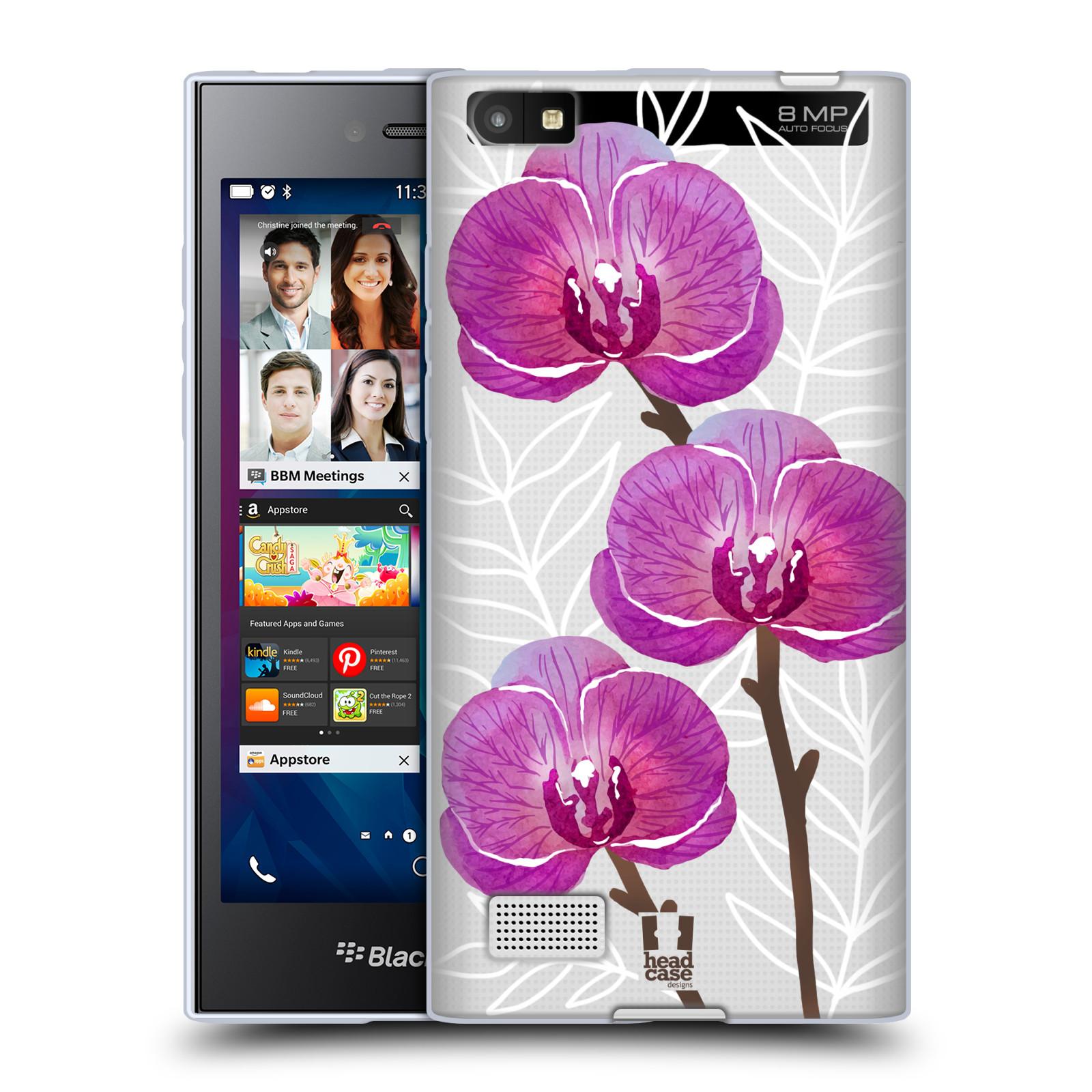 Silikonové pouzdro na mobil Blackberry Leap - Head Case - Hezoučké kvítky - průhledné