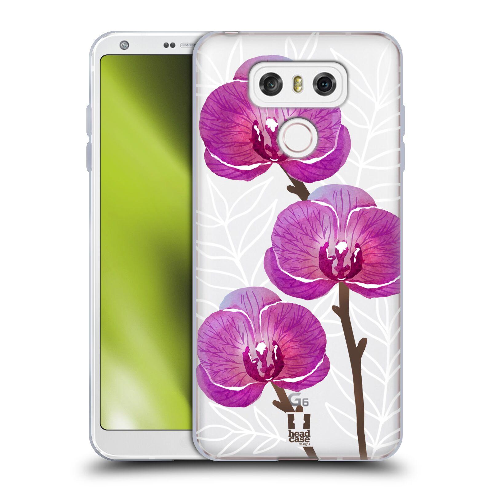 Silikonové pouzdro na mobil LG G6 - Head Case - Hezoučké kvítky - průhledné