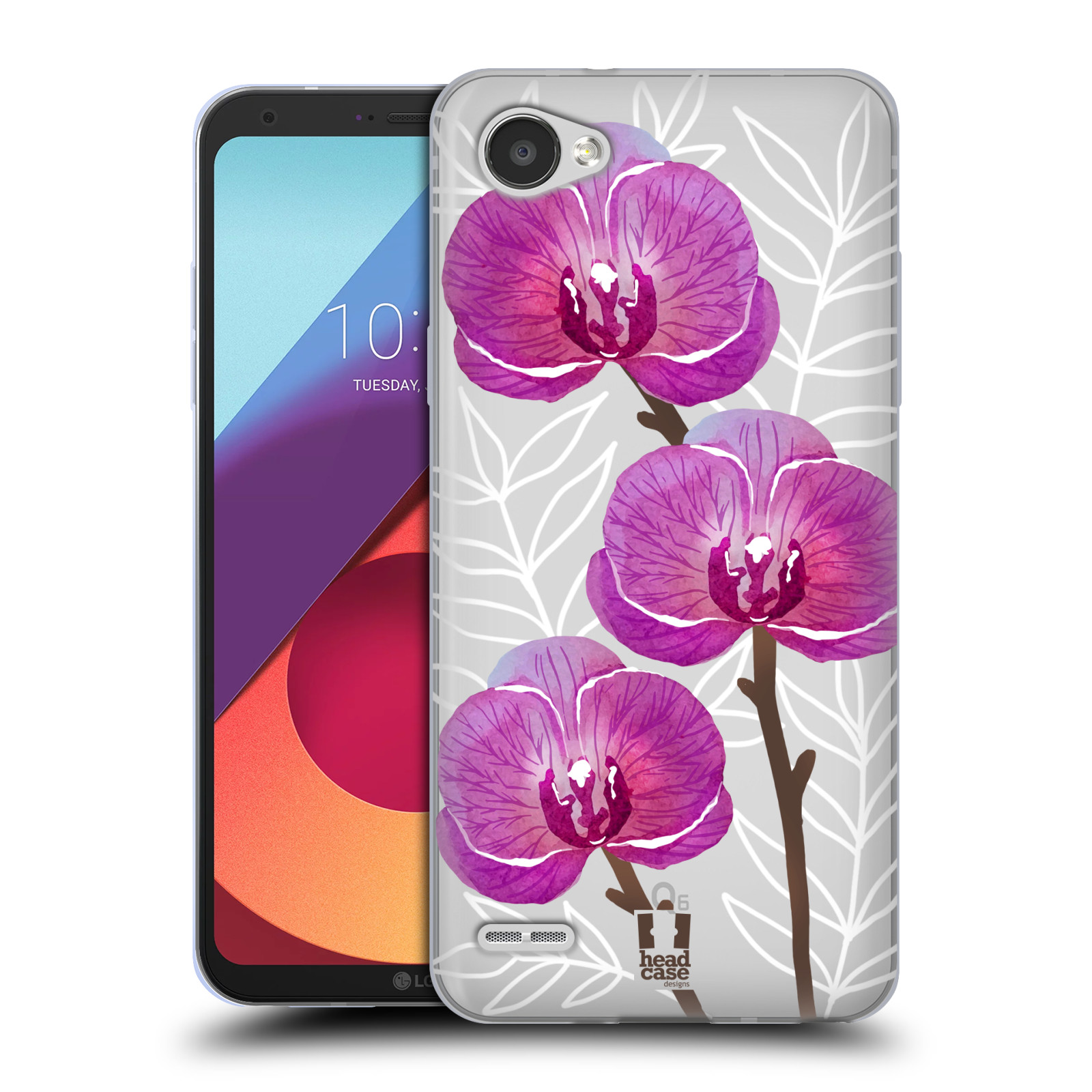 Silikonové pouzdro na mobil LG Q6 - Head Case - Hezoučké kvítky - průhledné