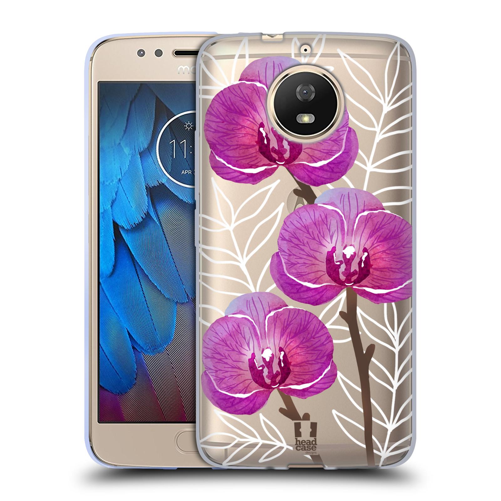 Silikonové pouzdro na mobil Lenovo Moto G5s - Head Case - Hezoučké kvítky - průhledné
