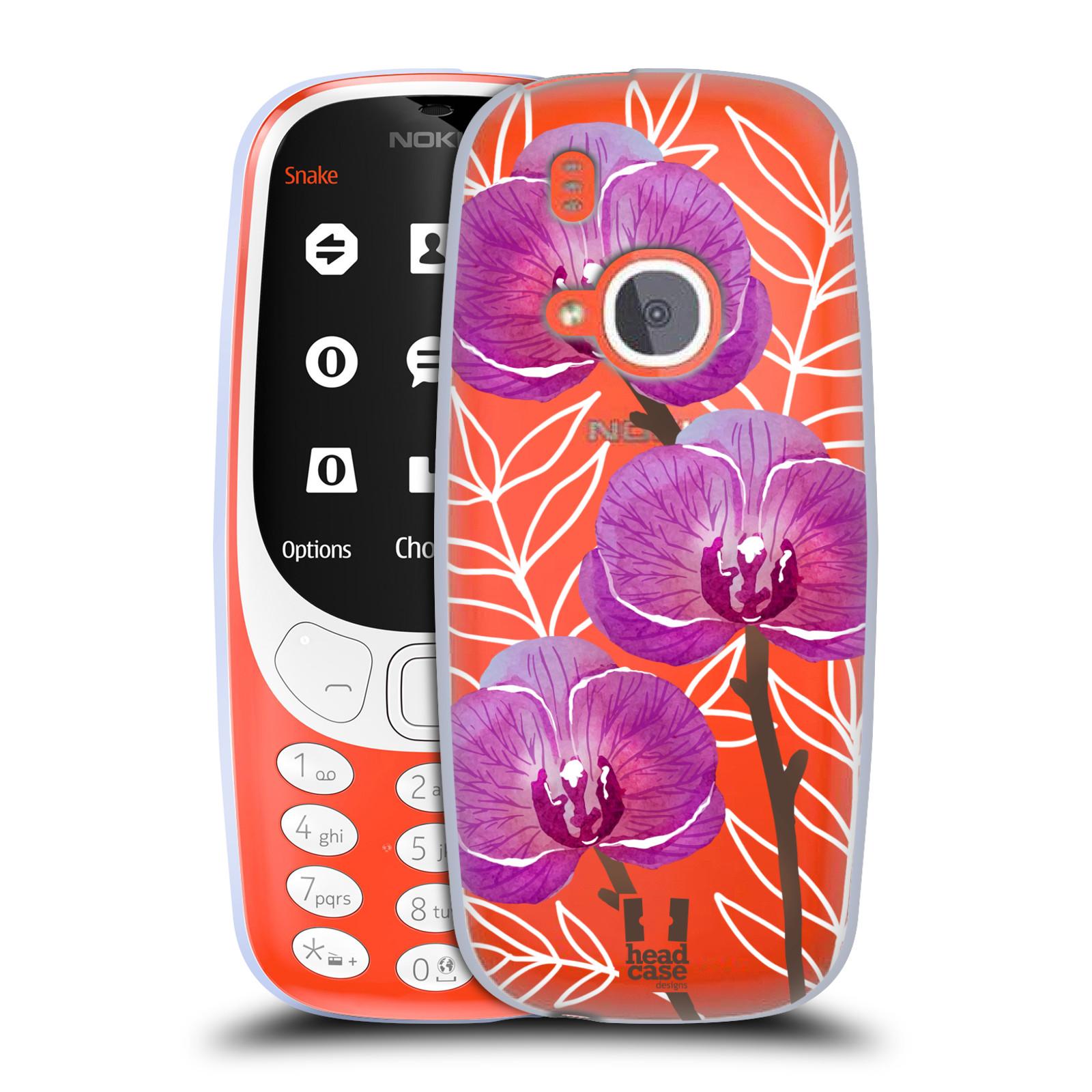 Silikonové pouzdro na mobil Nokia 3310 - Head Case - Hezoučké kvítky - průhledné