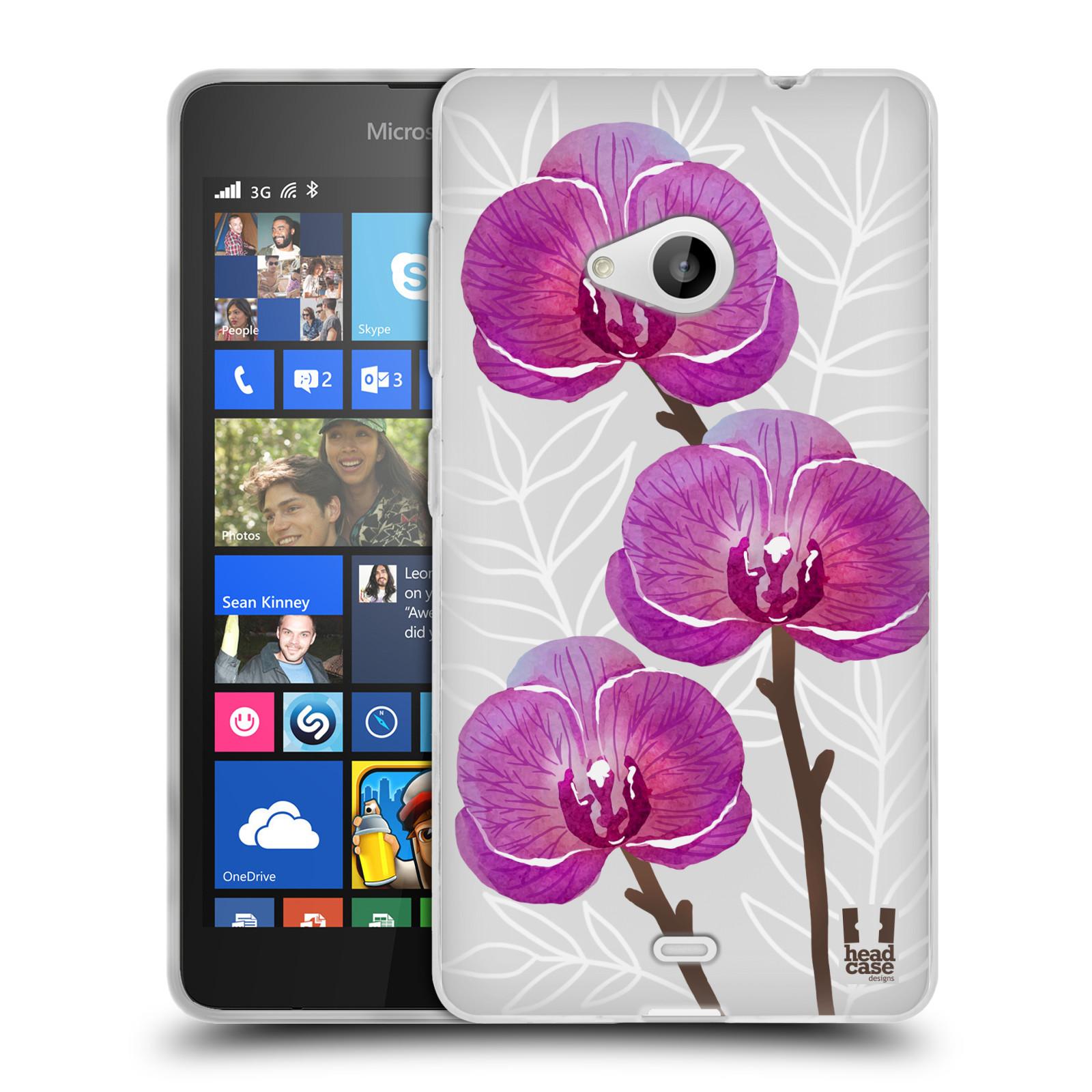Silikonové pouzdro na mobil Microsoft Lumia 535 - Head Case - Hezoučké kvítky - průhledné
