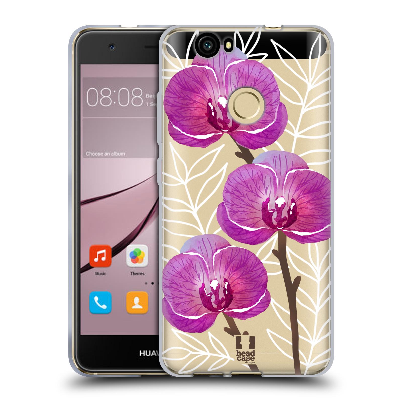 Silikonové pouzdro na mobil Huawei Nova - Head Case - Hezoučké kvítky - průhledné