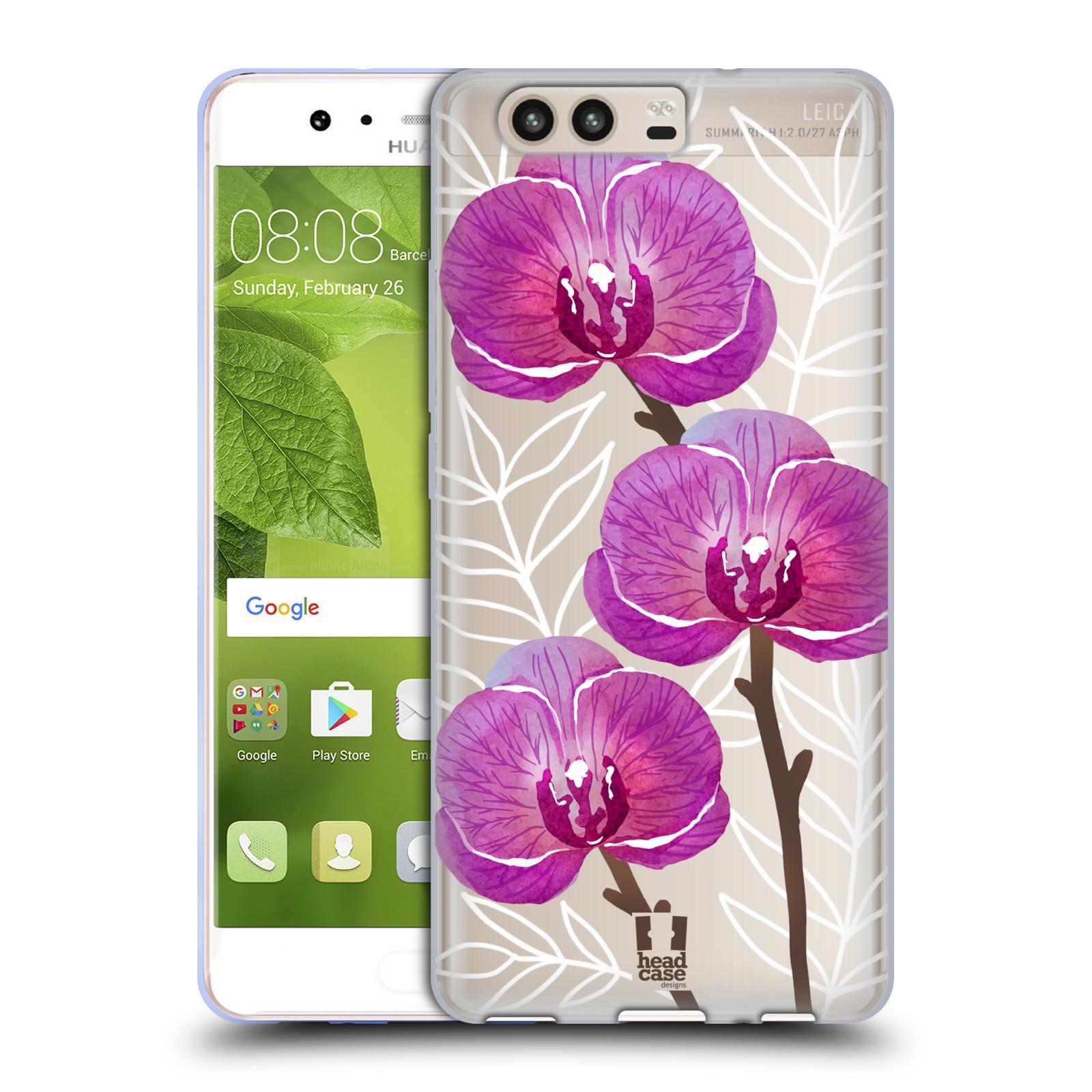 Silikonové pouzdro na mobil Huawei P10 - Head Case - Hezoučké kvítky - průhledné