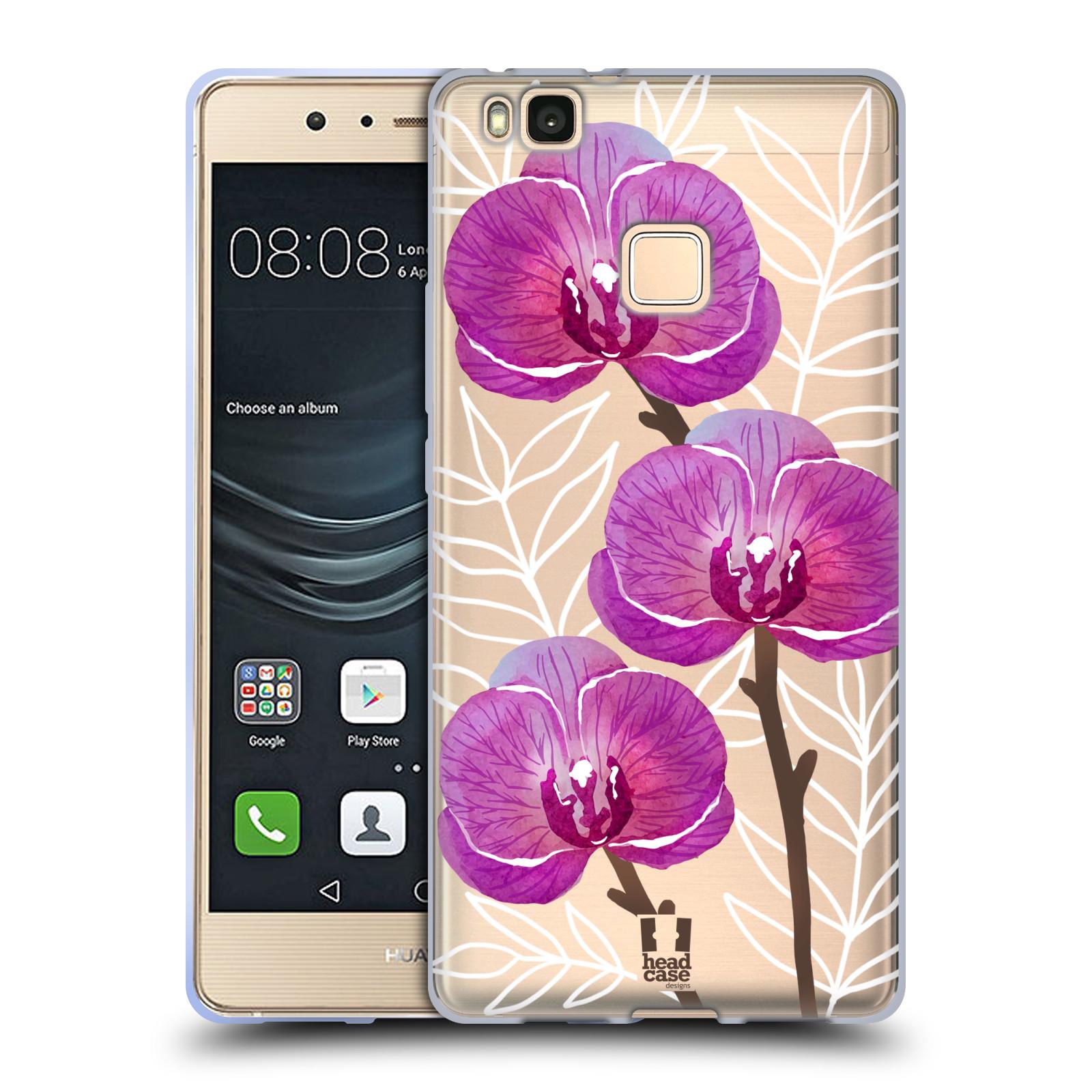 Silikonové pouzdro na mobil Huawei P9 Lite - Head Case - Hezoučké kvítky - průhledné