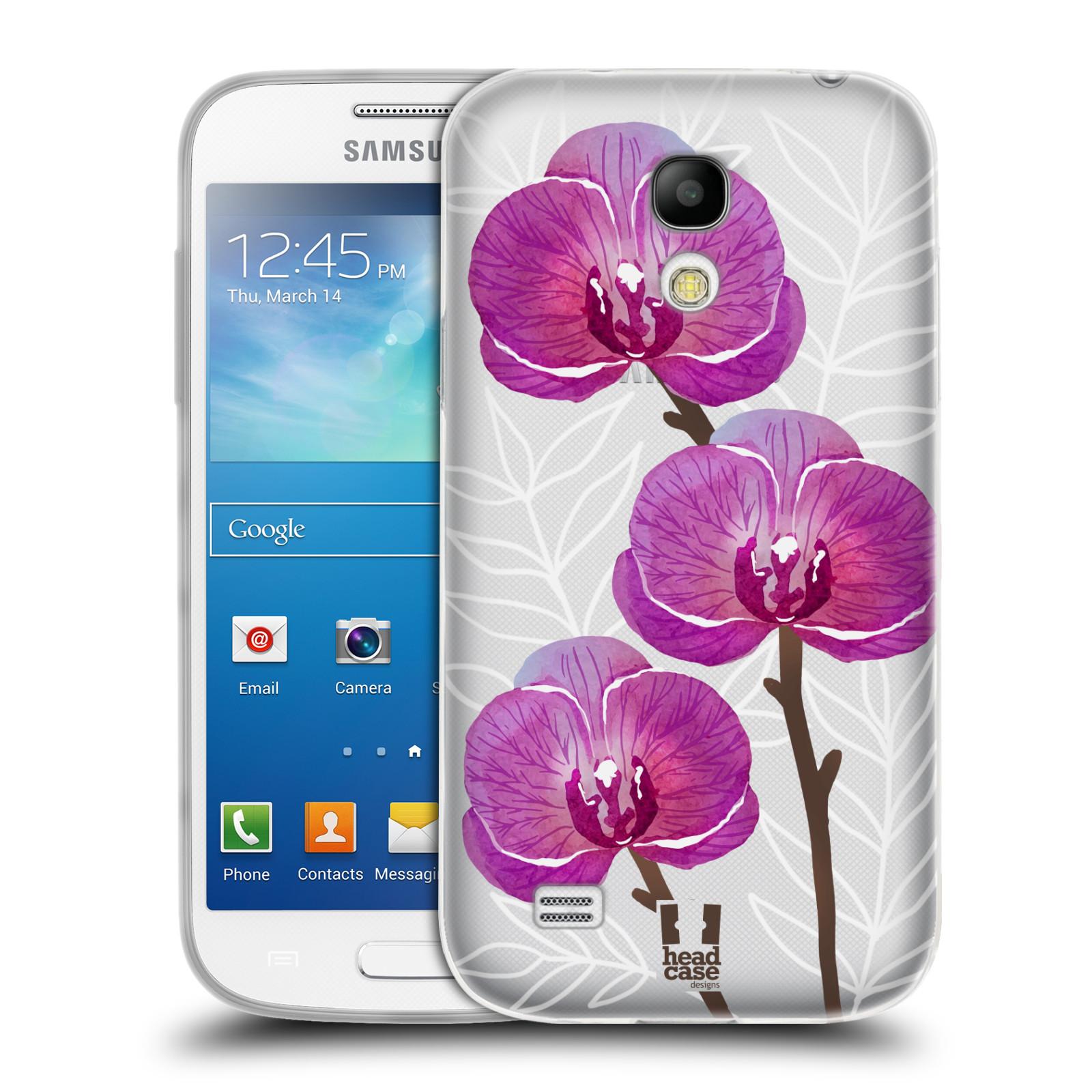 Silikonové pouzdro na mobil Samsung Galaxy S4 Mini - Head Case - Hezoučké kvítky - průhledné