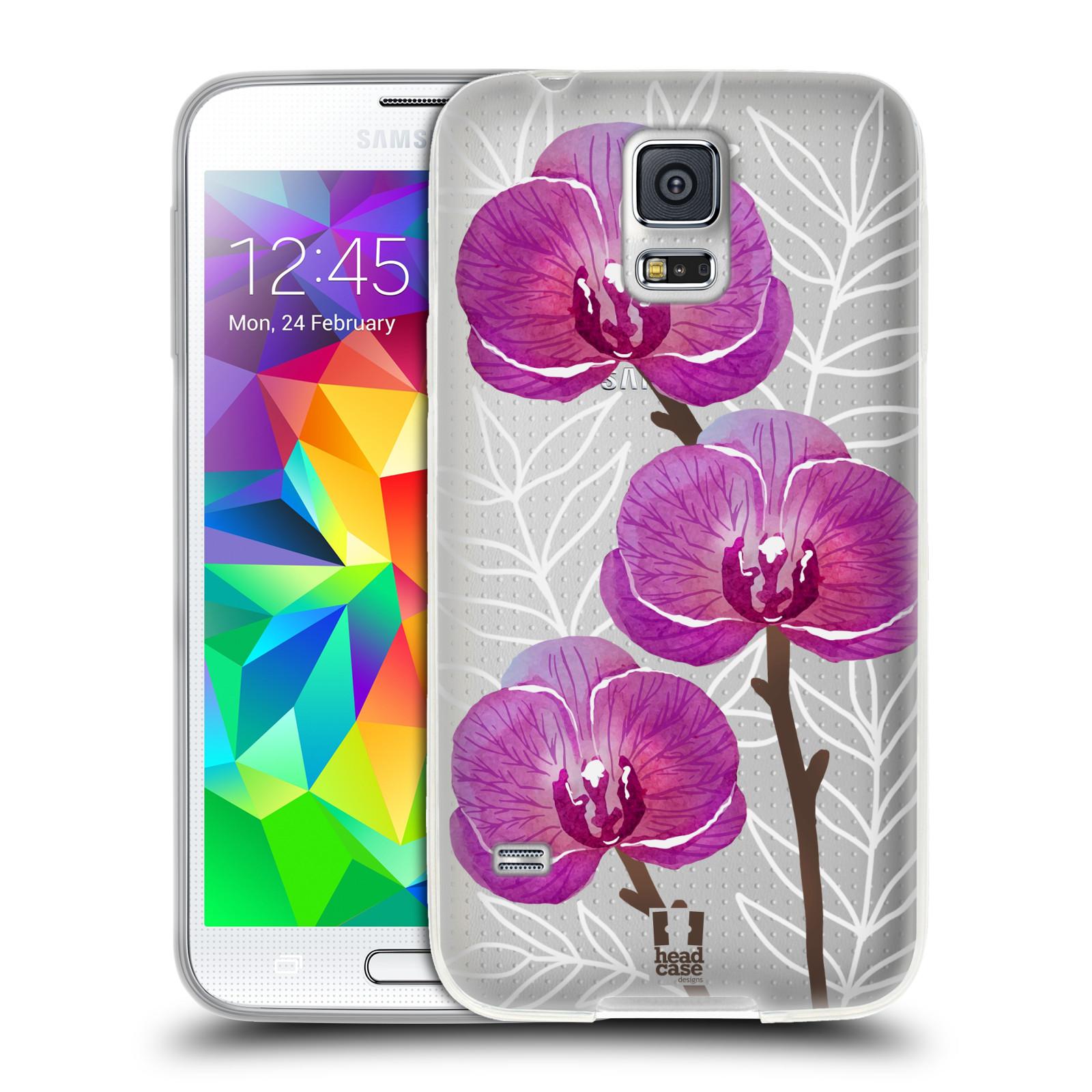 Silikonové pouzdro na mobil Samsung Galaxy S5 - Head Case - Hezoučké kvítky - průhledné