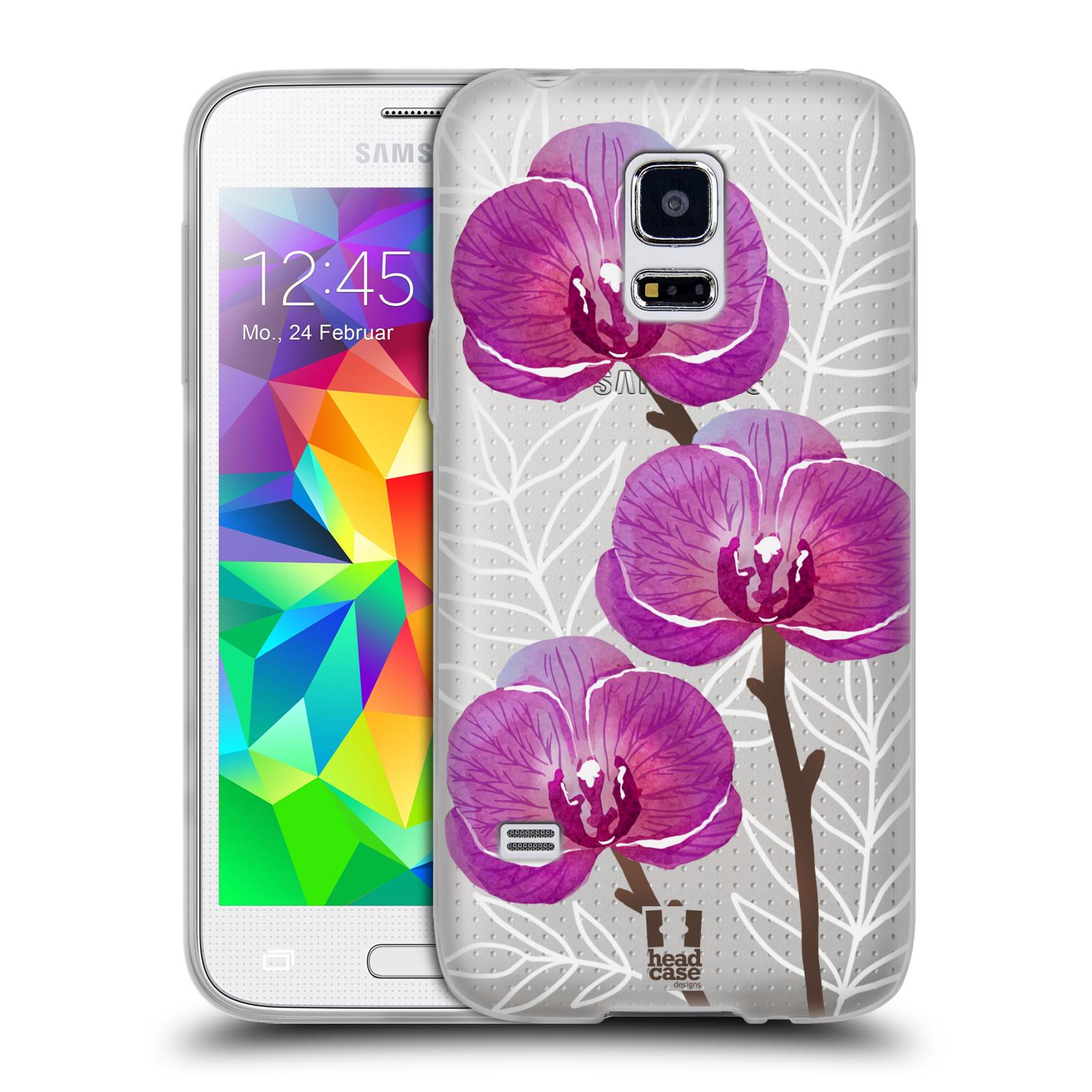Silikonové pouzdro na mobil Samsung Galaxy S5 Mini - Head Case - Hezoučké kvítky - průhledné