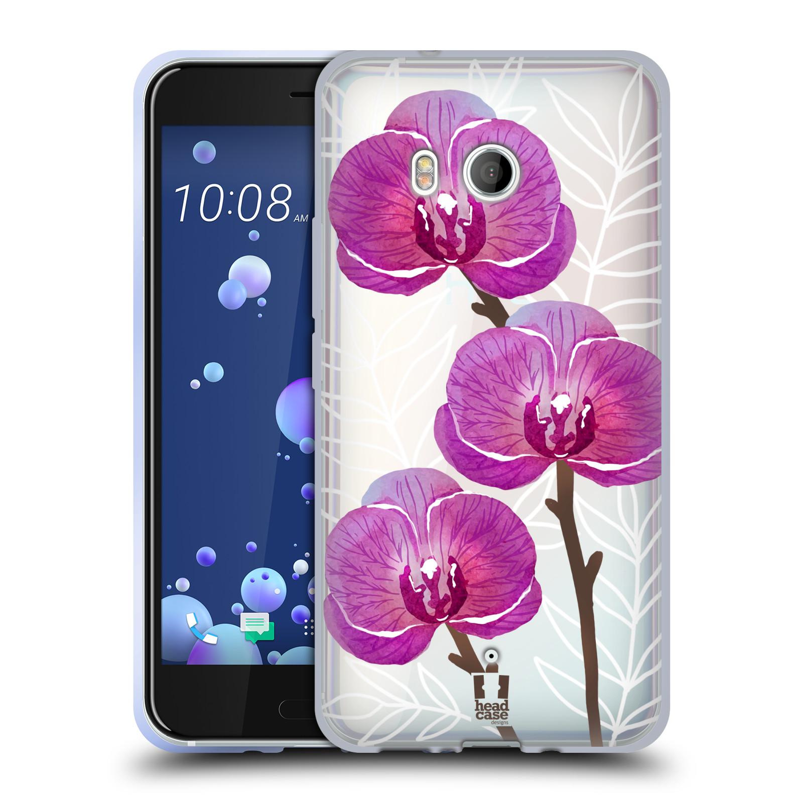 Silikonové pouzdro na mobil HTC U11 - Head Case - Hezoučké kvítky - průhledné