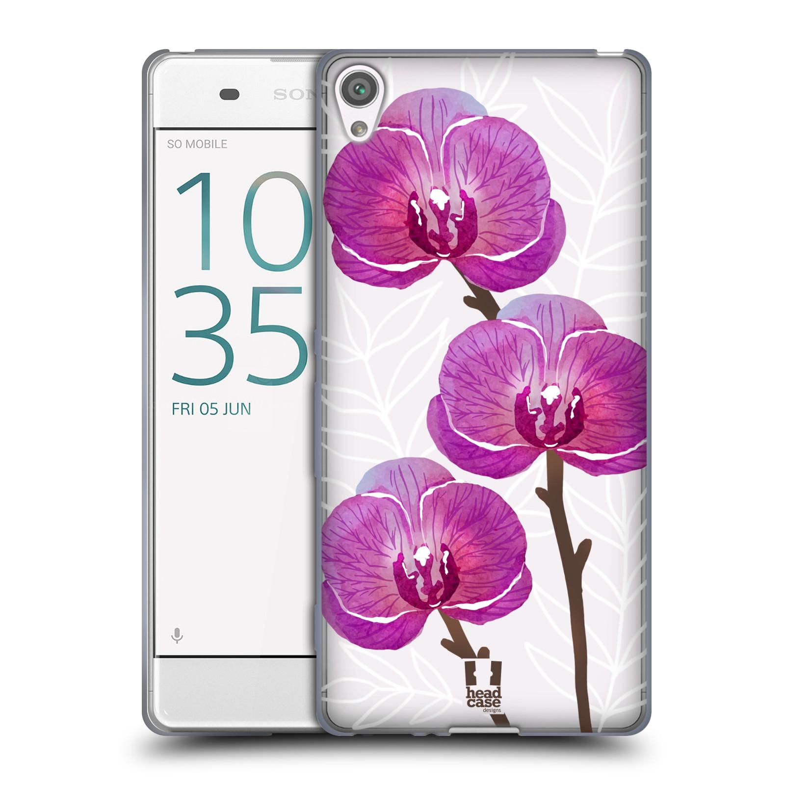Silikonové pouzdro na mobil Sony Xperia XA - Head Case - Hezoučké kvítky - průhledné