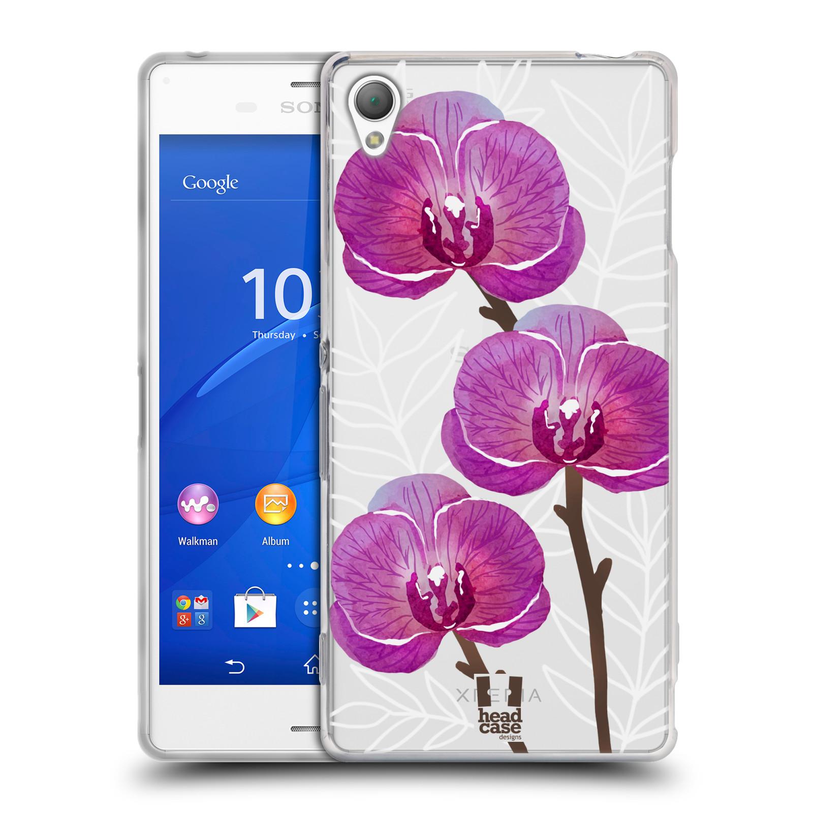 Silikonové pouzdro na mobil Sony Xperia Z3 D6603 - Head Case - Hezoučké kvítky - průhledné