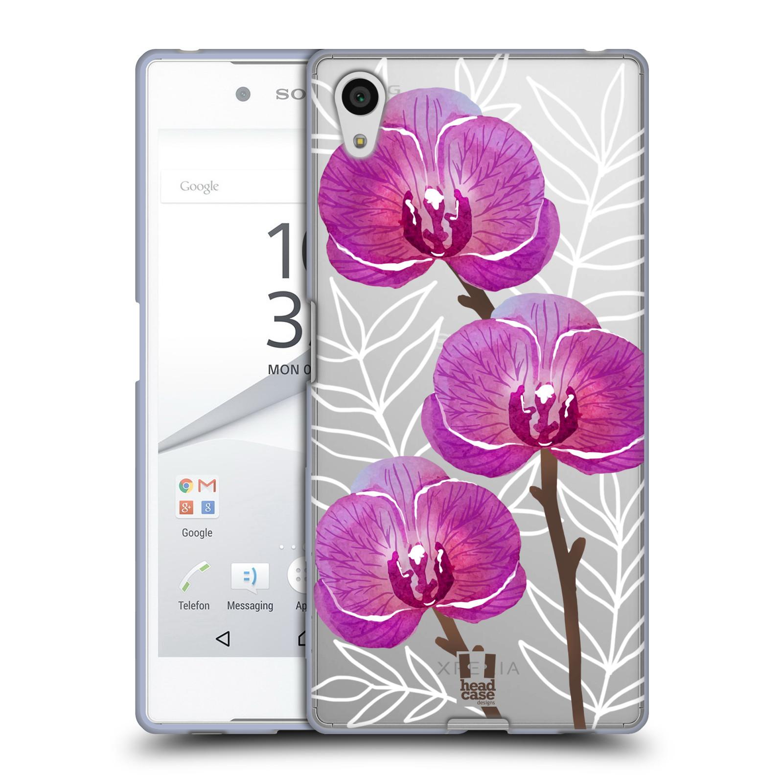 Silikonové pouzdro na mobil Sony Xperia Z5 - Head Case - Hezoučké kvítky - průhledné