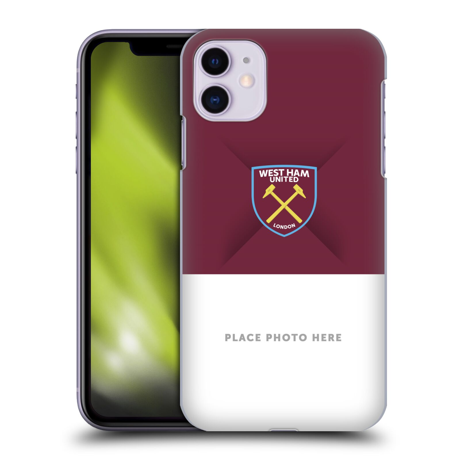 Personalisierte Individuelle West Ham United FC Rotwein Wappen 1 Hülle für Apple iPhone 11