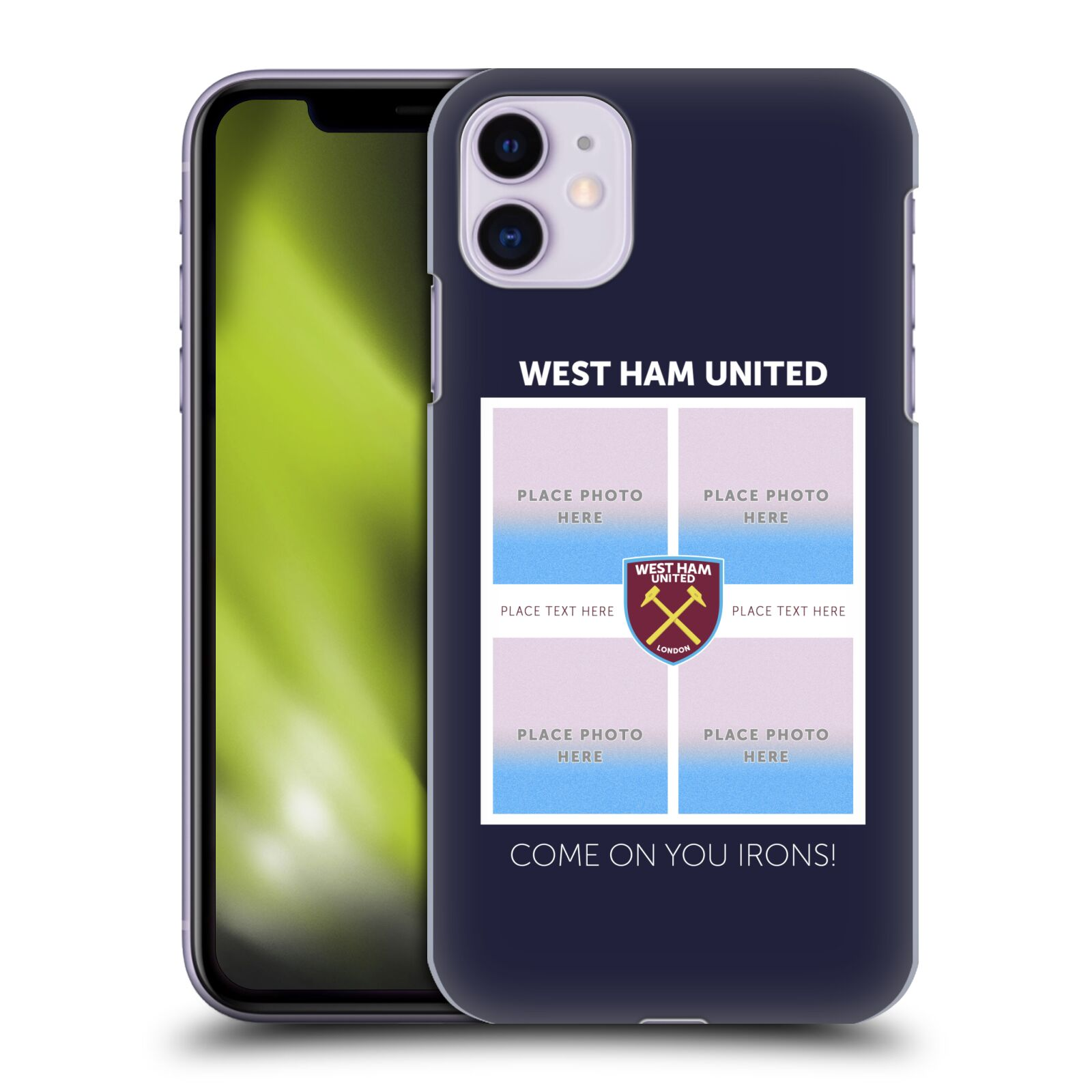 Personalisierte Individuelle West Ham United FC Rotwein Retro Rotwein Hülle für Apple iPhone 11