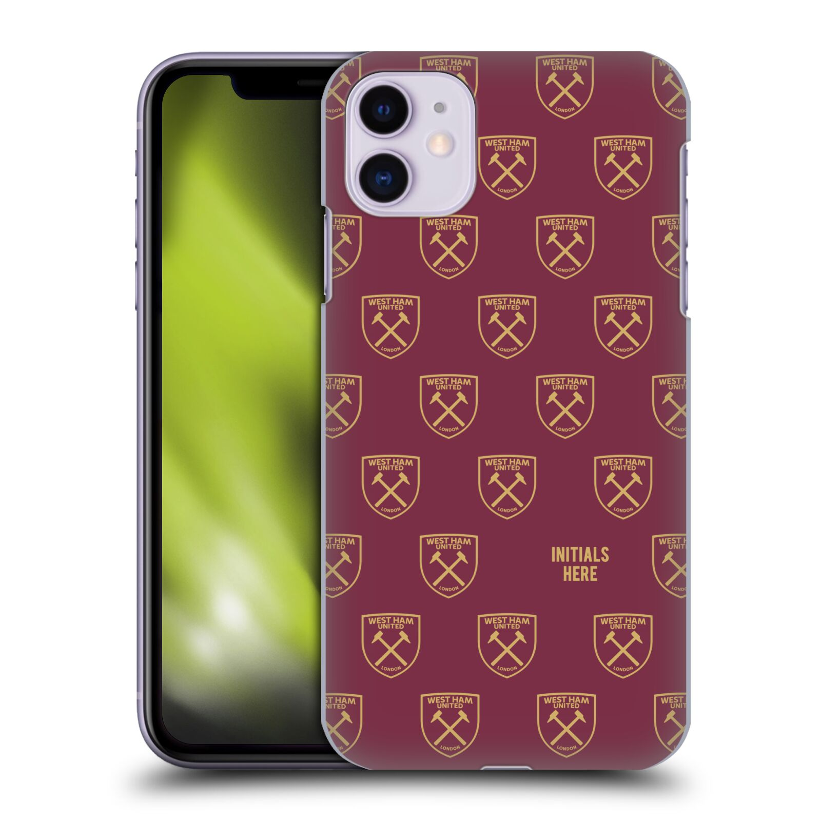 Personalisierte Individuelle West Ham United FC 2018/19 Muster Hülle für Apple iPhone 11
