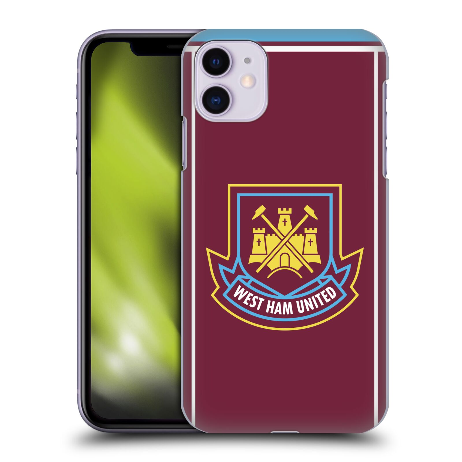 Offizielle West Ham United FC Retro Wappen Di Canio 2000 Home Hülle für Apple iPhone 11