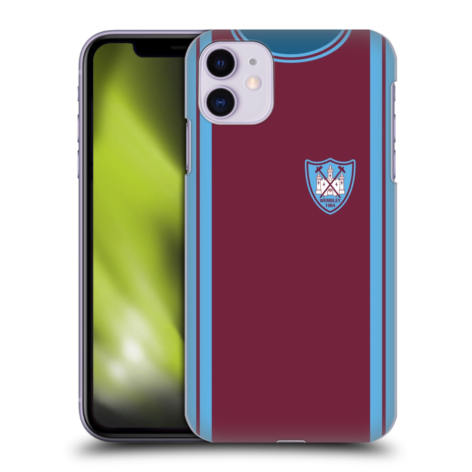 Officiel West Ham United FC Kits Rétro 1964 FA Cup Final Étui Coque D'Arrière Pour Apple iPhone 11