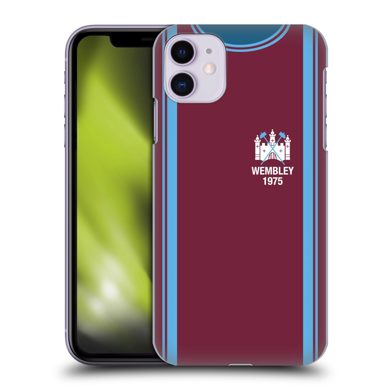 Officiel West Ham United FC Kits Rétro 1975 FA Cup Final Étui Coque D'Arrière Pour Apple iPhone 11