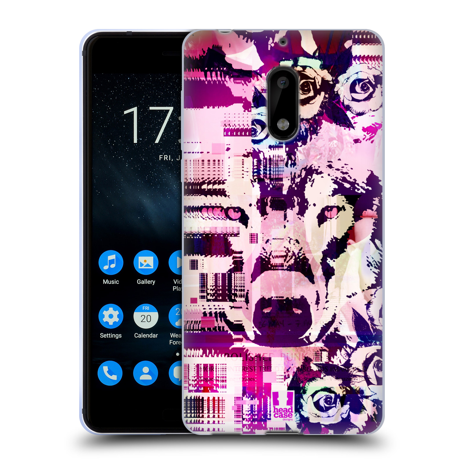 HEAD-CASE-DESIGNS-WILD-GLITCH-SOFT-GEL-CASE-FOR-NOKIA-PHONES-1