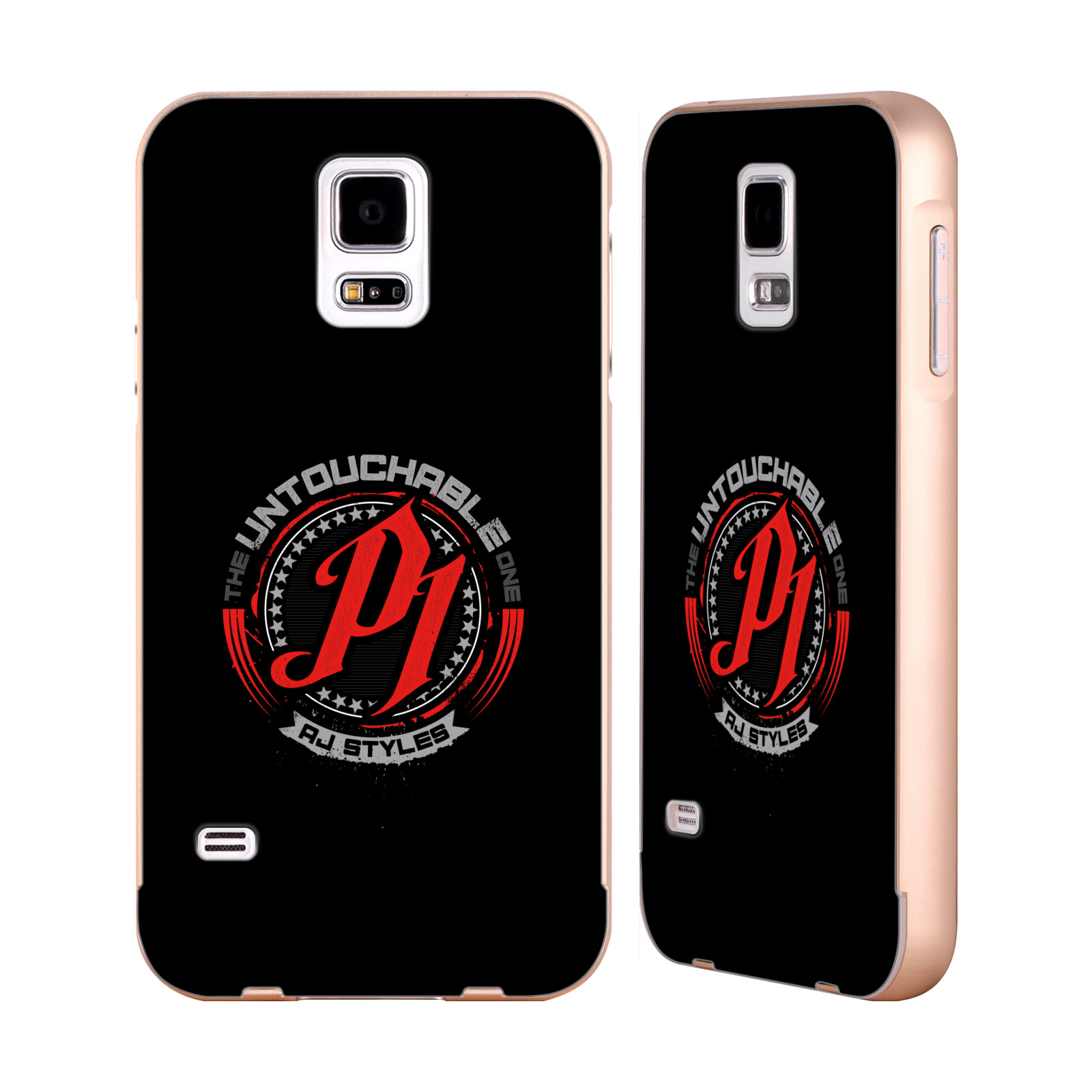 OFFICIAL-WWE-2017-AJ-STYLES-GOLD-ALUMINIUM-BUMPER-SLIDER-CASE-FOR-SAMSUNG-PHONES