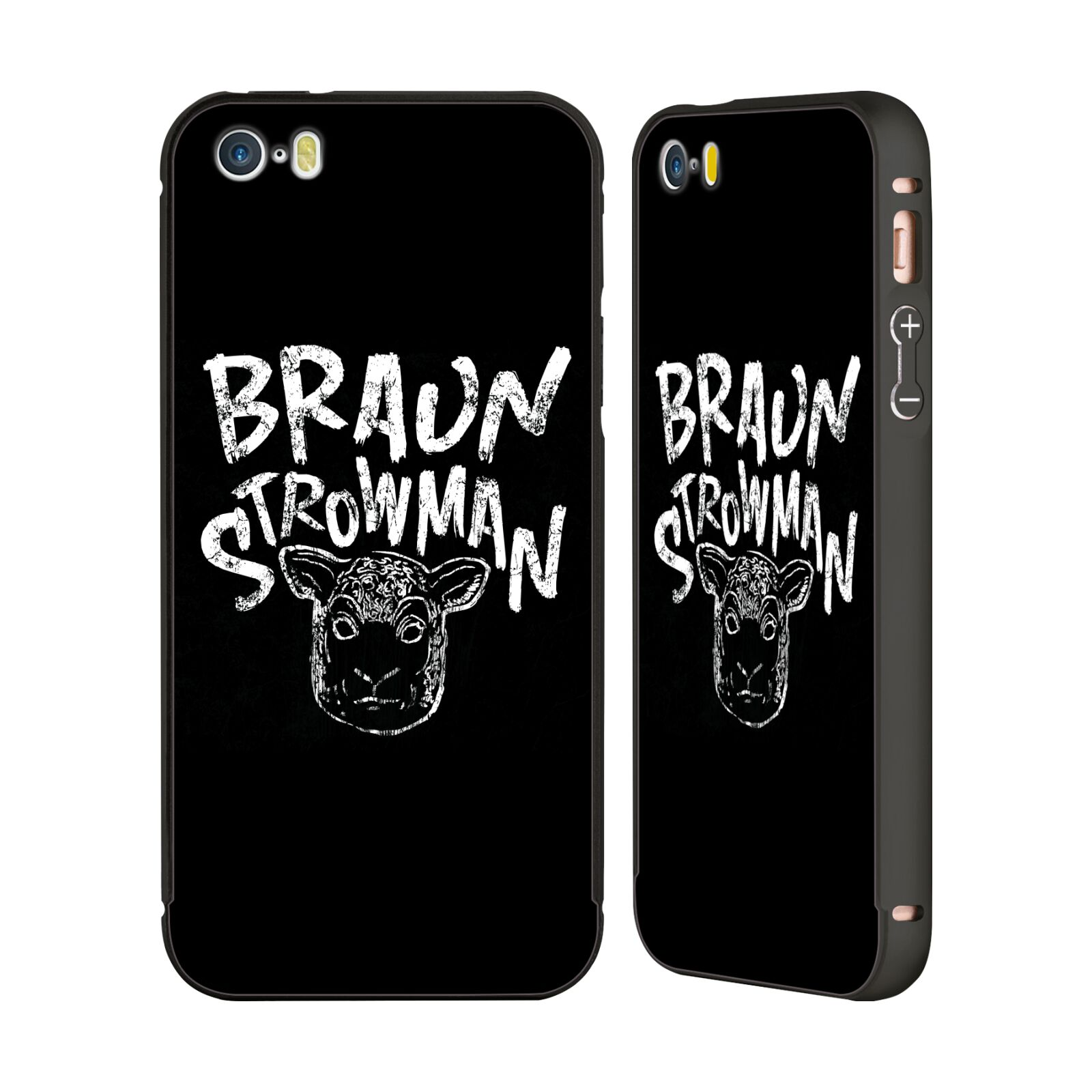 OFFICIAL-WWE-BRAUN-STROWMAN-BLACK-BUMPER-SLIDER-CASE-FOR-APPLE-iPHONE-PHONES