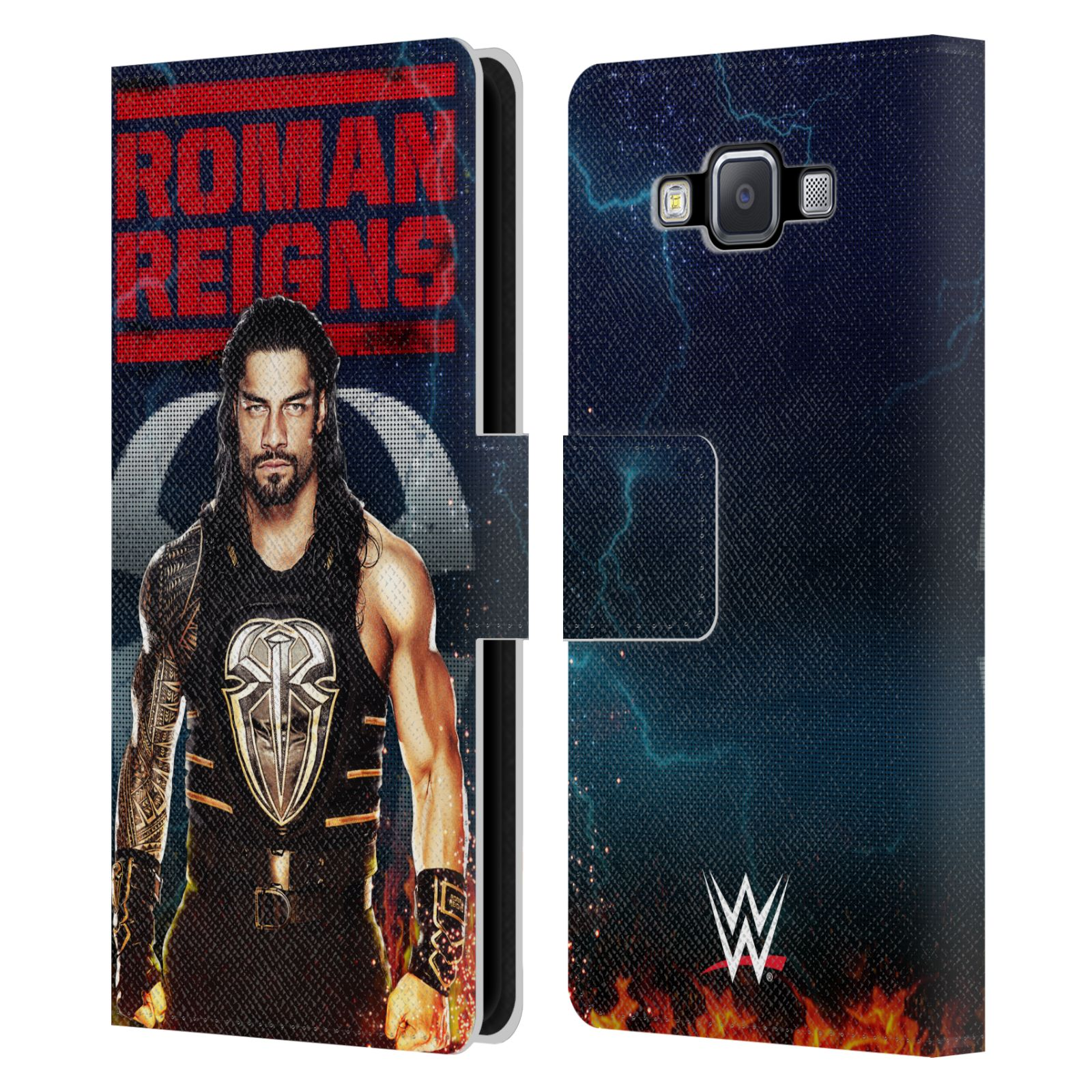 OFFICIAL-WWE-2017-ROMAN-REIGNS-LEATHER-BOOK-WALLET-CASE-FOR-SAMSUNG-PHONES-2